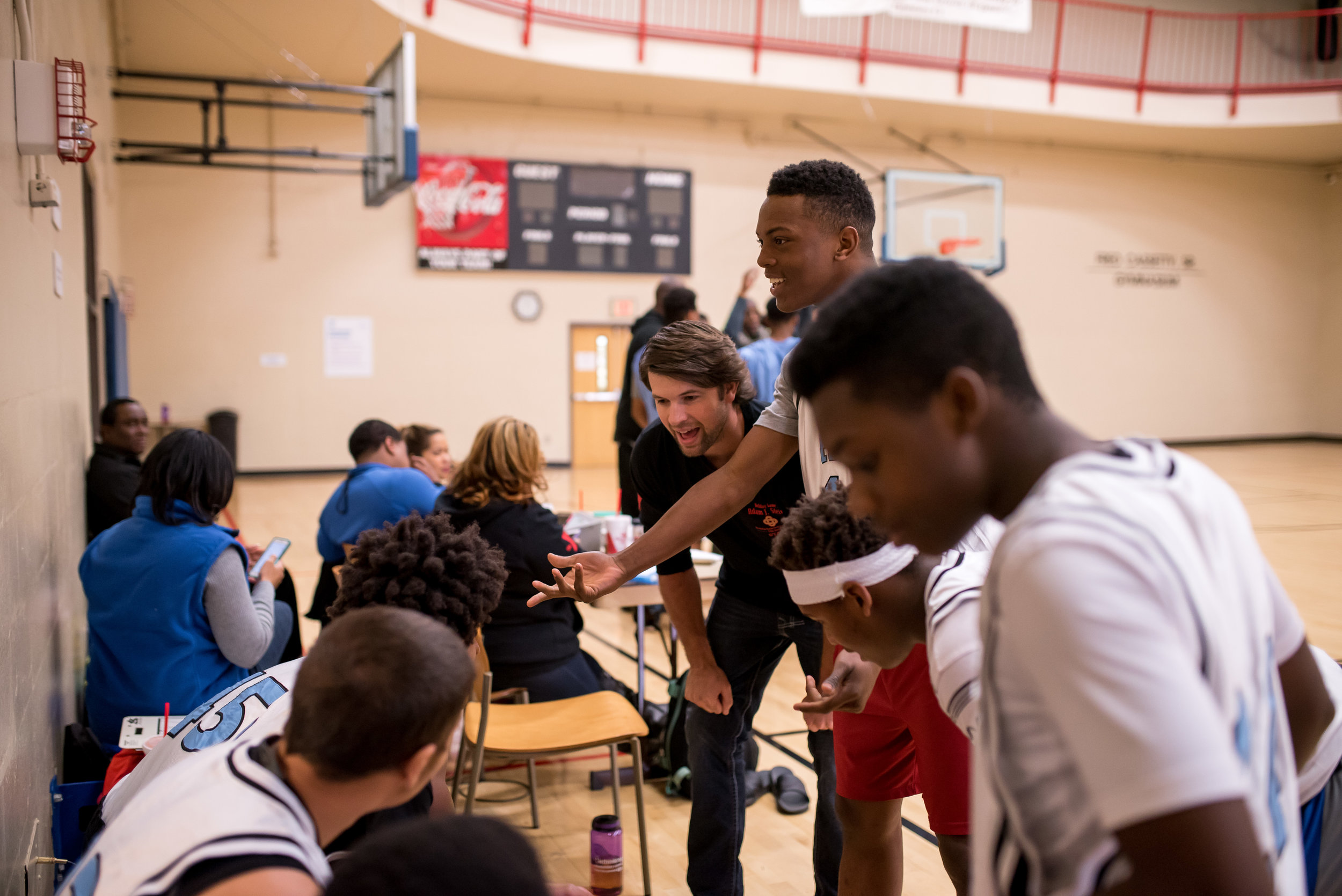 Steve Ownby and Ben Young were compelled by faith to organize and coach a basketball team composed of youth from our neighborhood.