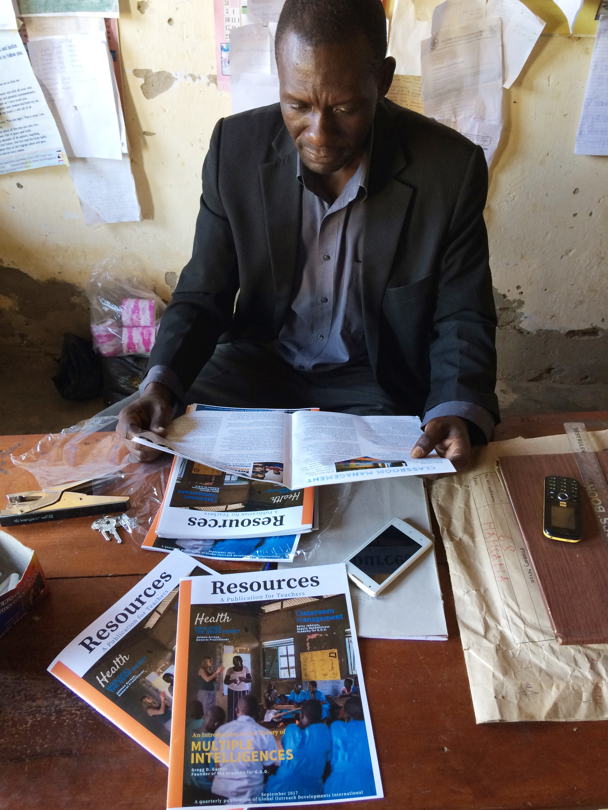 The Headmaster of St. John's Primary enjoyed the magazine and helped distribute the extra copies to other schools and the district's education authorities. Our work at St. John's has already gotten their attention, but to have written explanation of some of the approaches is a gift!