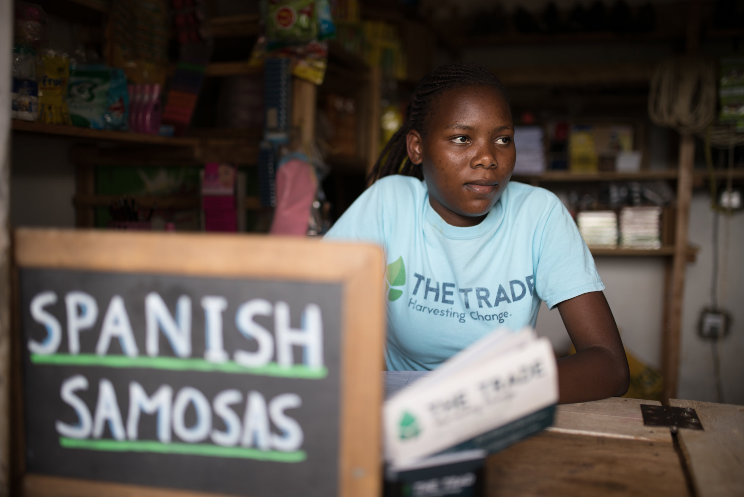 Spanish Samosas featured at  The Trade . The store provides jobs for Institute for G.O.D. East Africa students like Sarah. All while teaching the students how this kind of economy is healthy for the residents of their community.