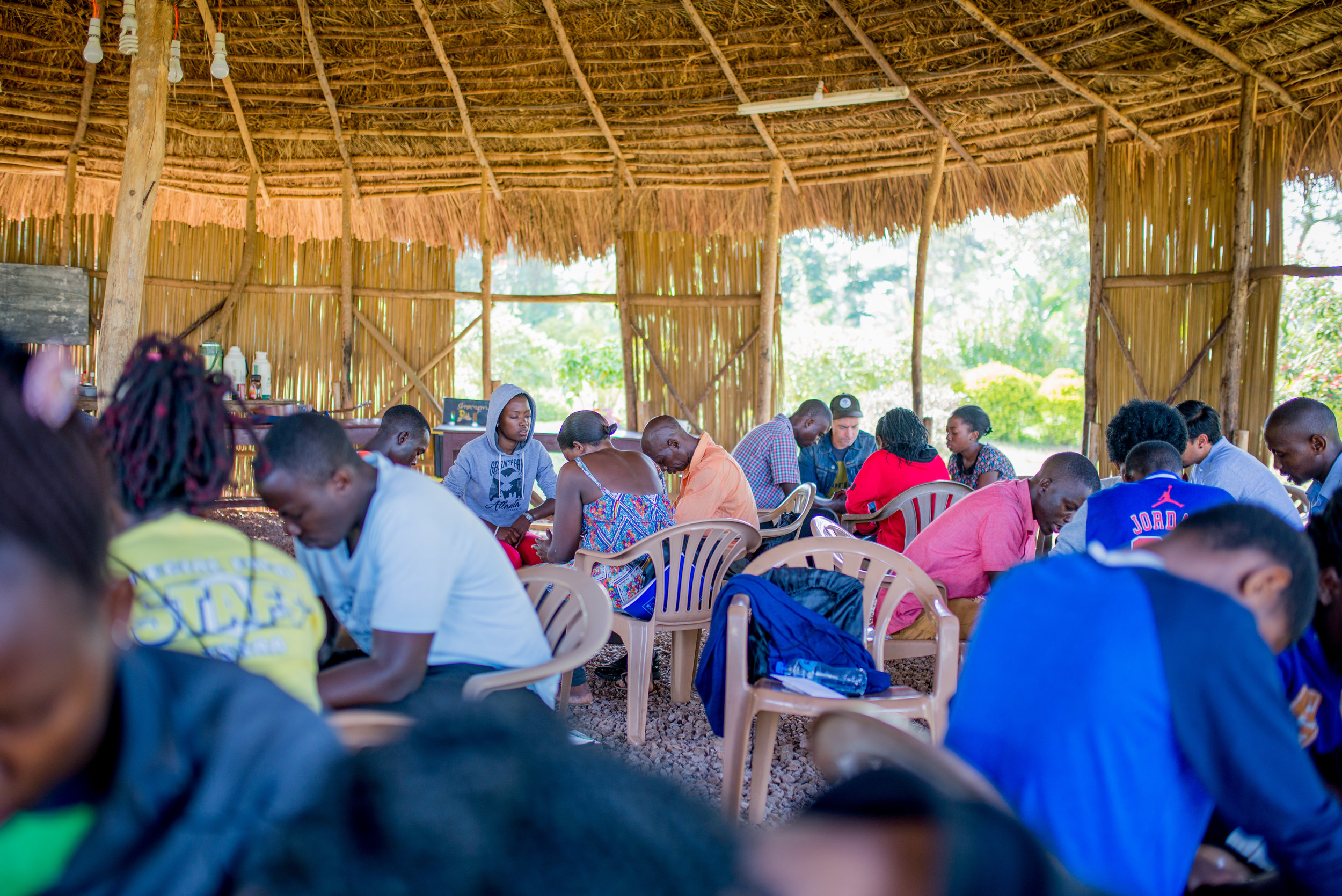 A group of our East African brothers and sisters spend time in prayer for one another during a recent summit we held with them in September. Such times are focused around providing opportunity for those who are hungering and thirsting for righteousness to be educated by God's word into doing good for the LORD.