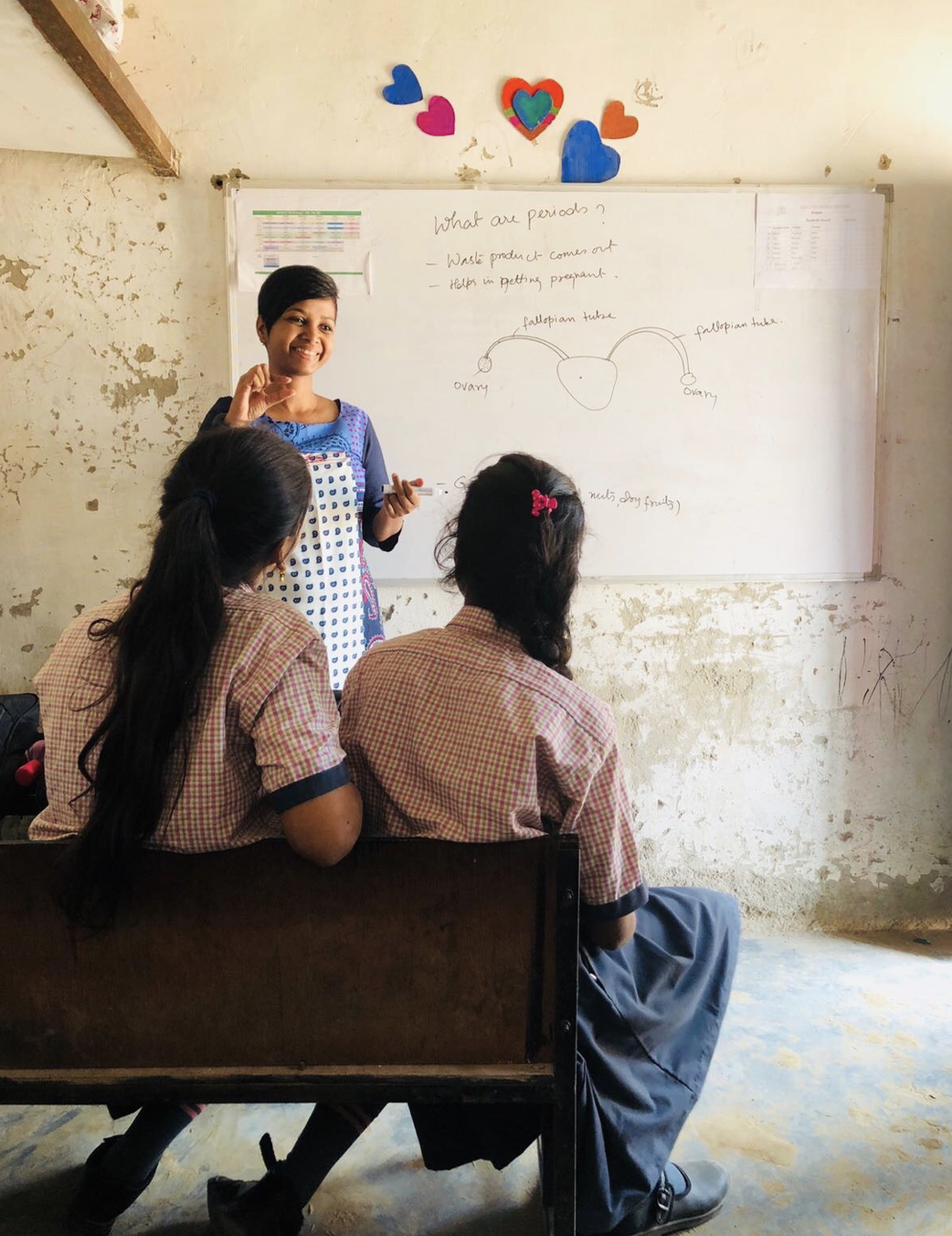 Watching Sneha, originally an architect, do this task with passion for the subject matter and love for the girls she served was inspiring! She lit up when she could help the girls with understanding.
