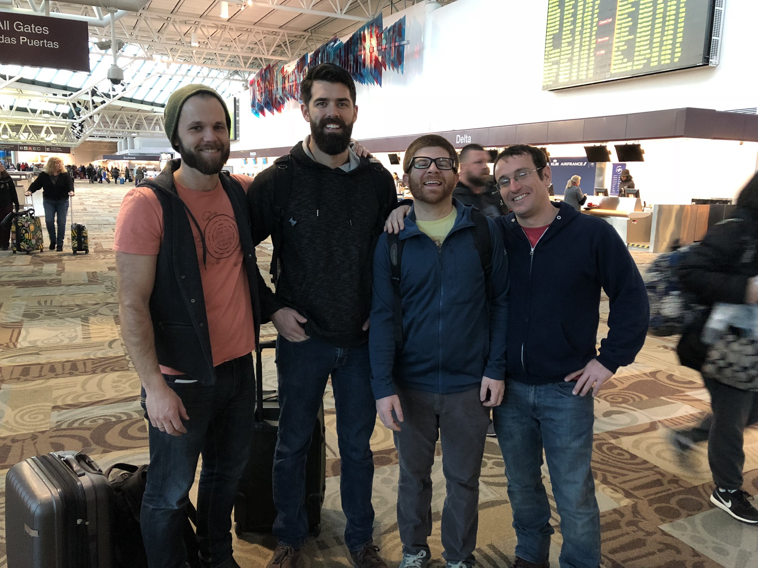 From Left: Geoff Hartnell, manager of Hopewell Farms, Aaron Montgomery, photographer, web designer and agriculture enthusiast, Mitch Buchanan, our entrepreneurial expert of the trip and Brandon Galford, Bible professor from the Institute for G.O.D.,all members of G.O.D. Int'l.