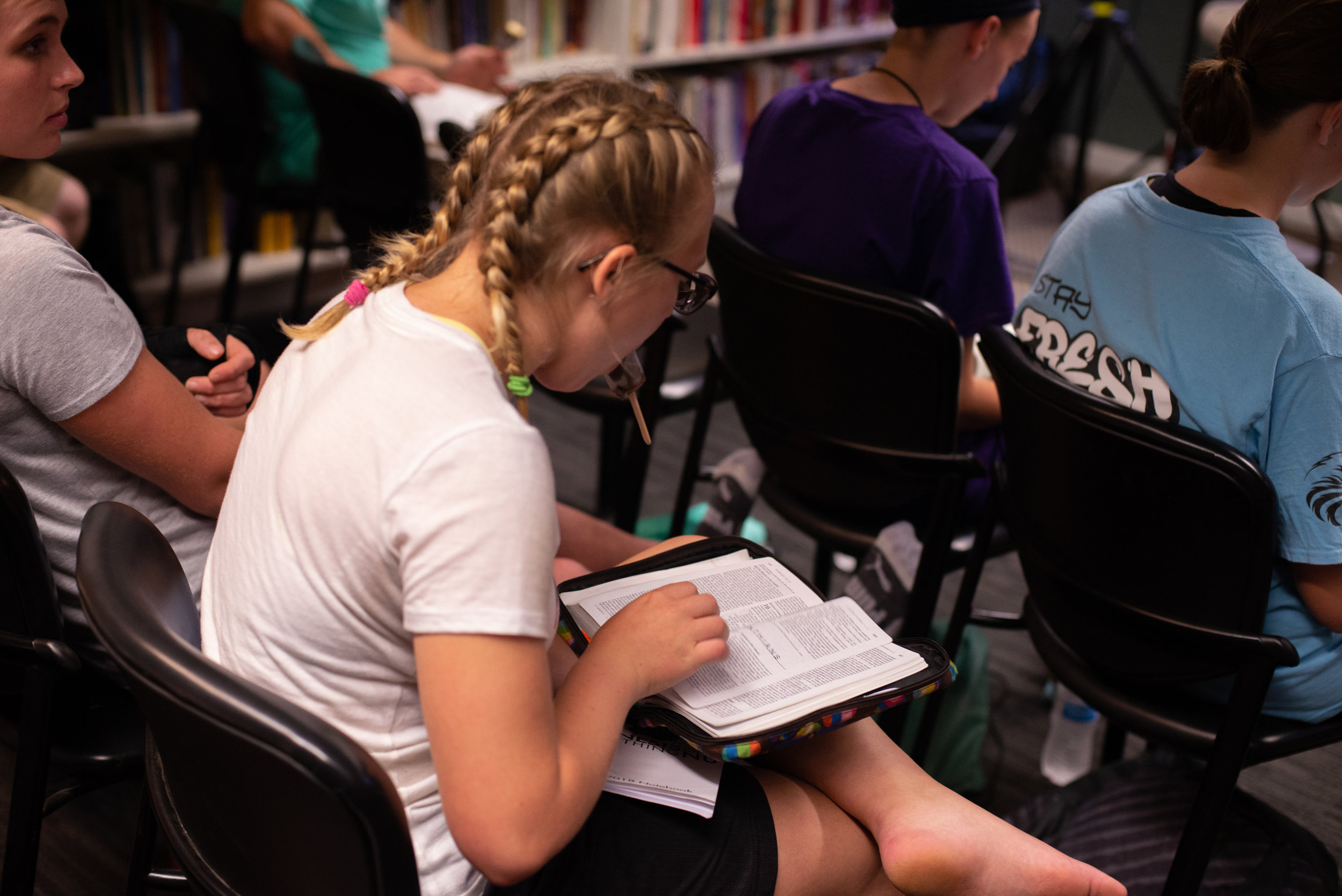 Multiple SLAM leaders noted how impressed they were with the students'enthusiasm and desire to learn the Bible!