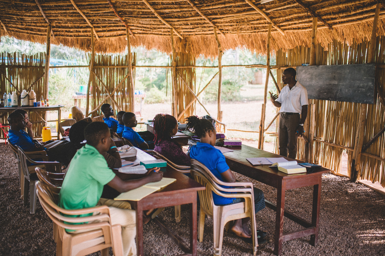The first quarter, students are learning the book of Genesis from Professor Kimbugwe.