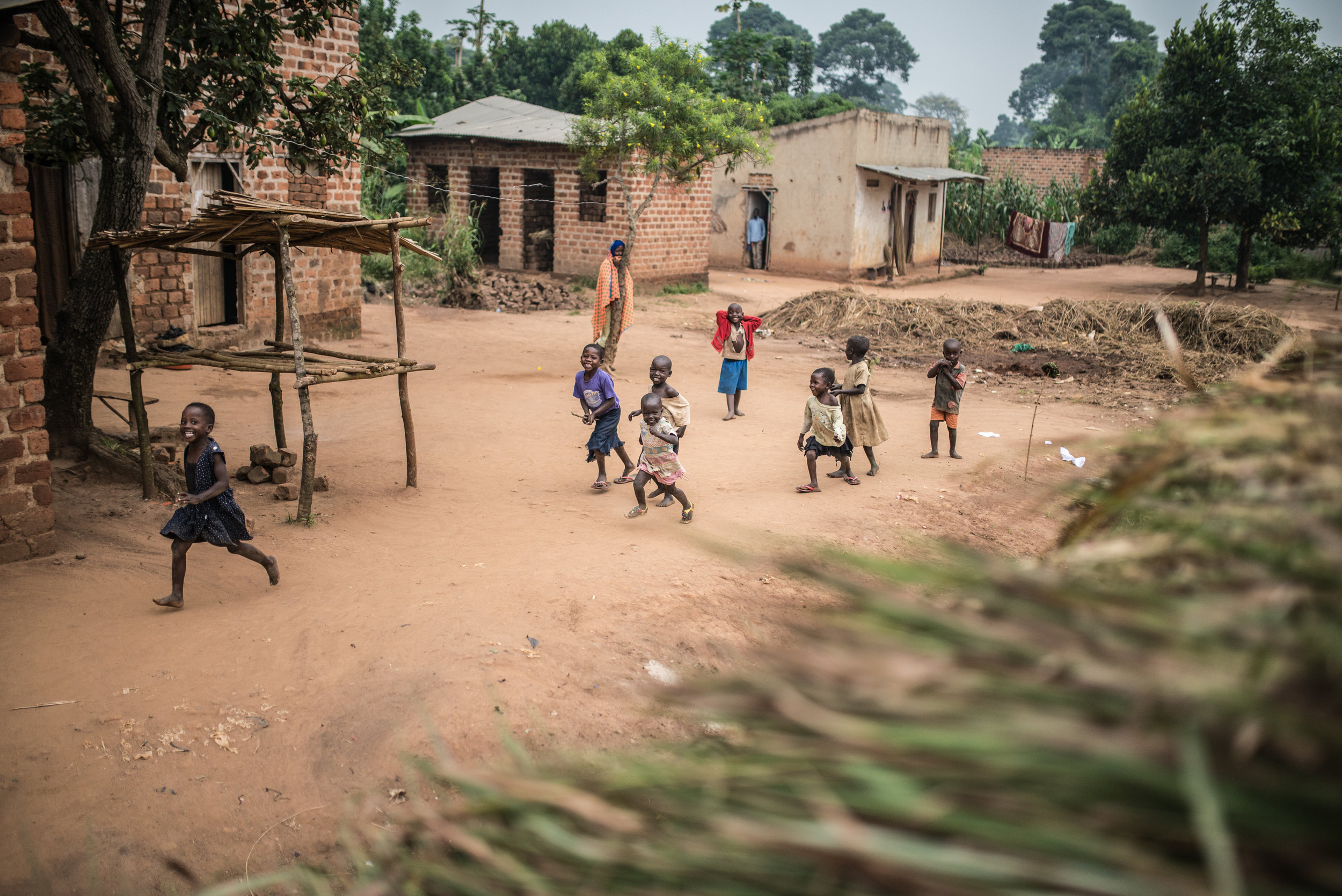 A scene from the village where our hub is located in Uganda.