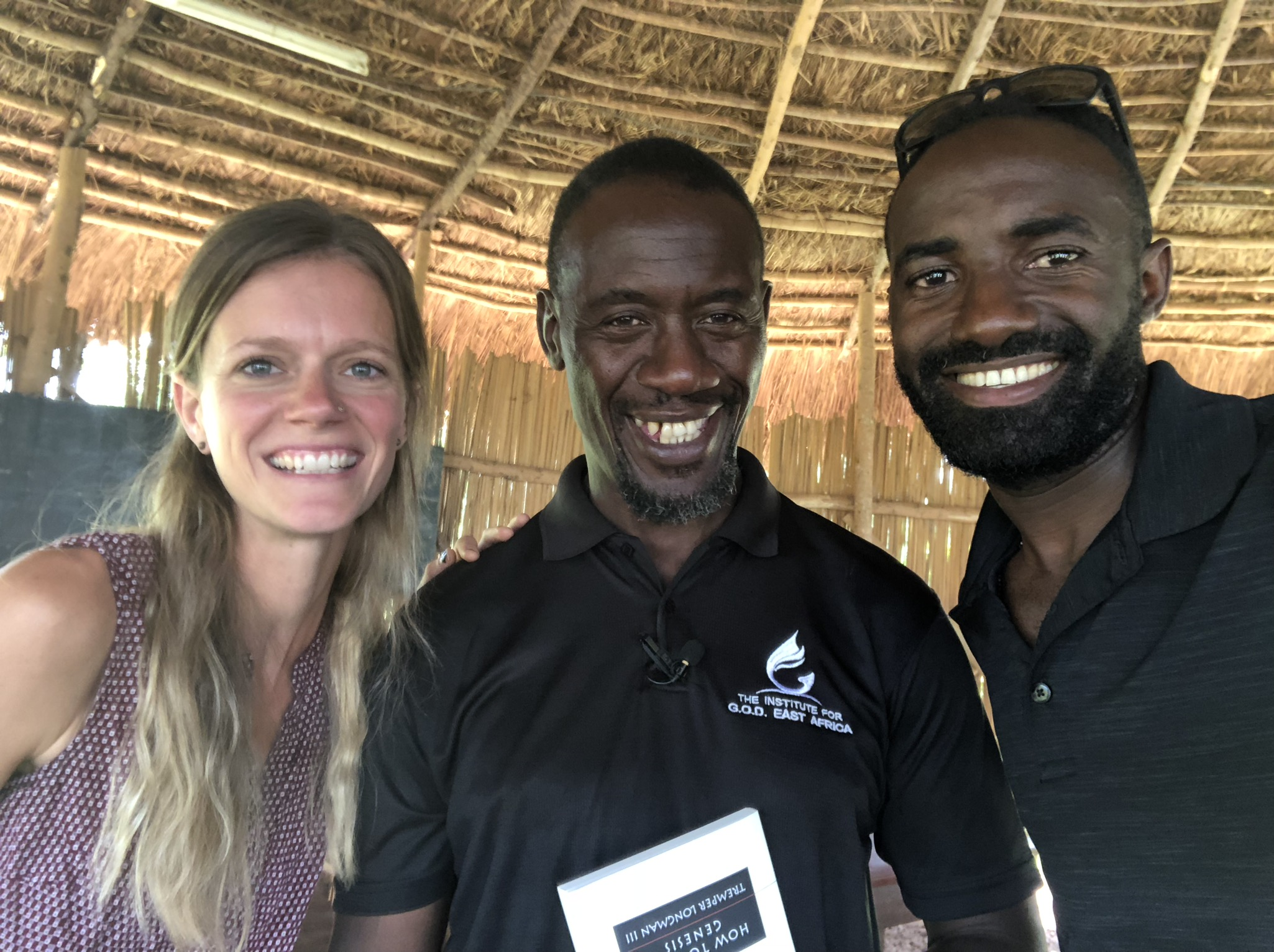 Grace Aaseby and Nyago John delivered books and materials to Peter Kimbugwe, lead instructor at the Institute for G.O.D. EA—a man responsible for passing on the good things we have learned from God to the next generation of students hungry to know him.