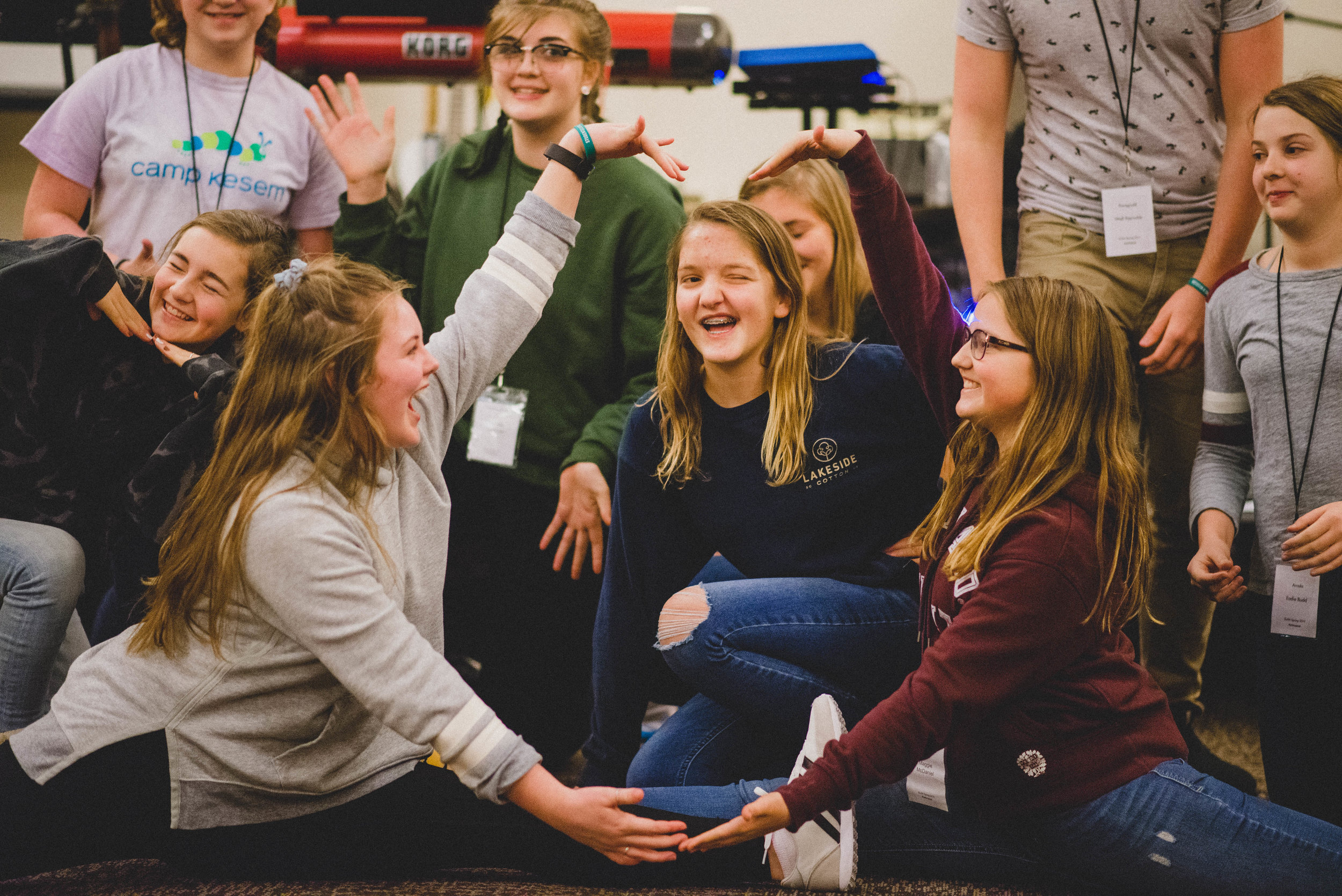 Though students were from three different states, new friendships were quickly formed when given the opportunity to sing, dance, and perform other creative arts together.