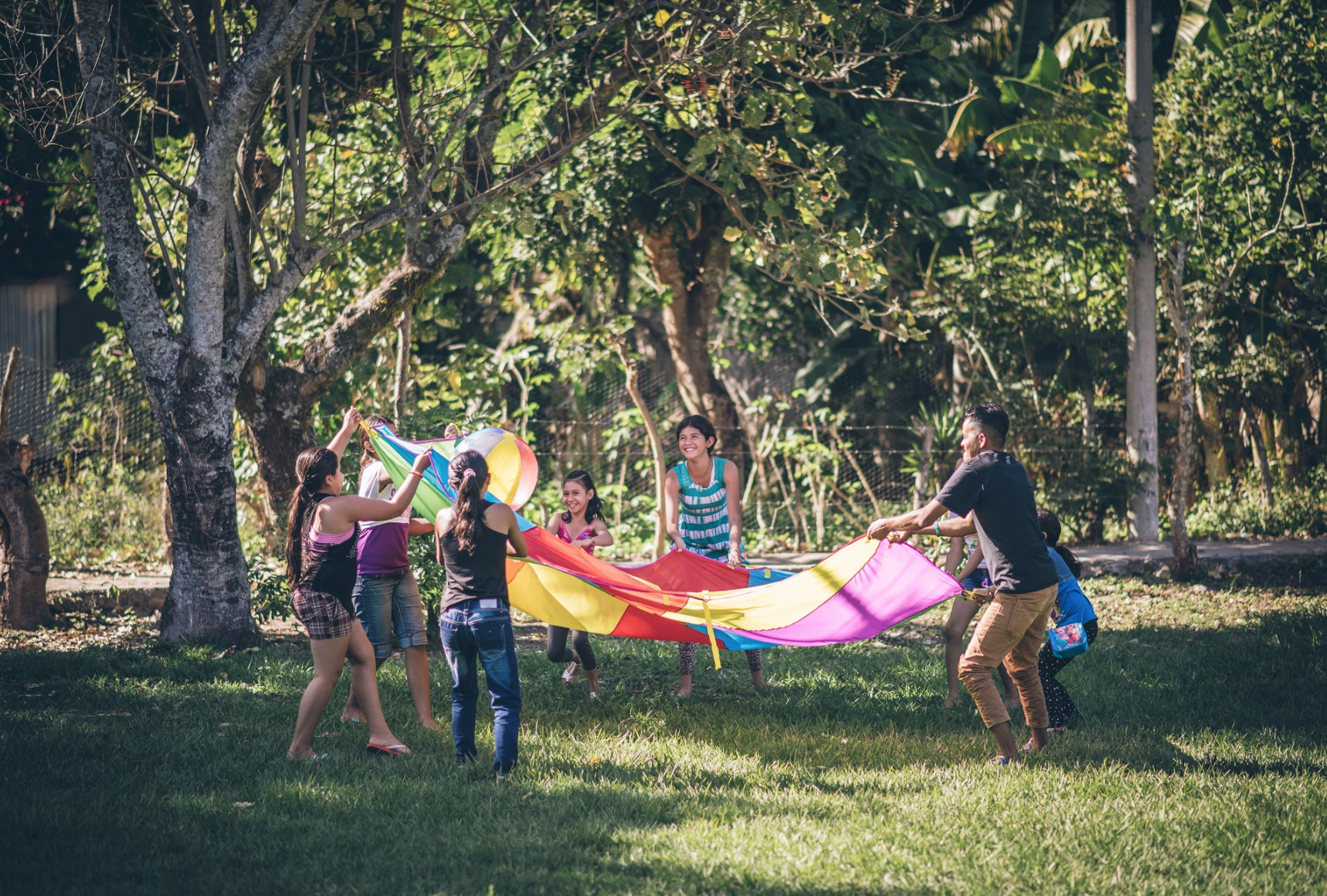 In El Salvador, families gather on our campus for games, food and celebration. We're grateful for scenes like this, where children can play in safety, and for the part you play in making it happen.