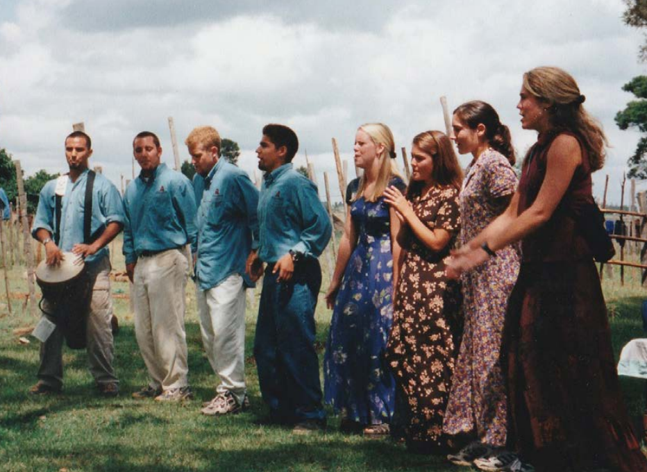 Gregg Garner, Jason Roufs, Robert Munoz, Tara Garner and team. Kenya, 1999.