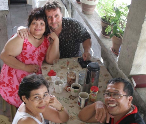Mike and Nympha Garner, with friends in ministry in the Philippines, 2006.
