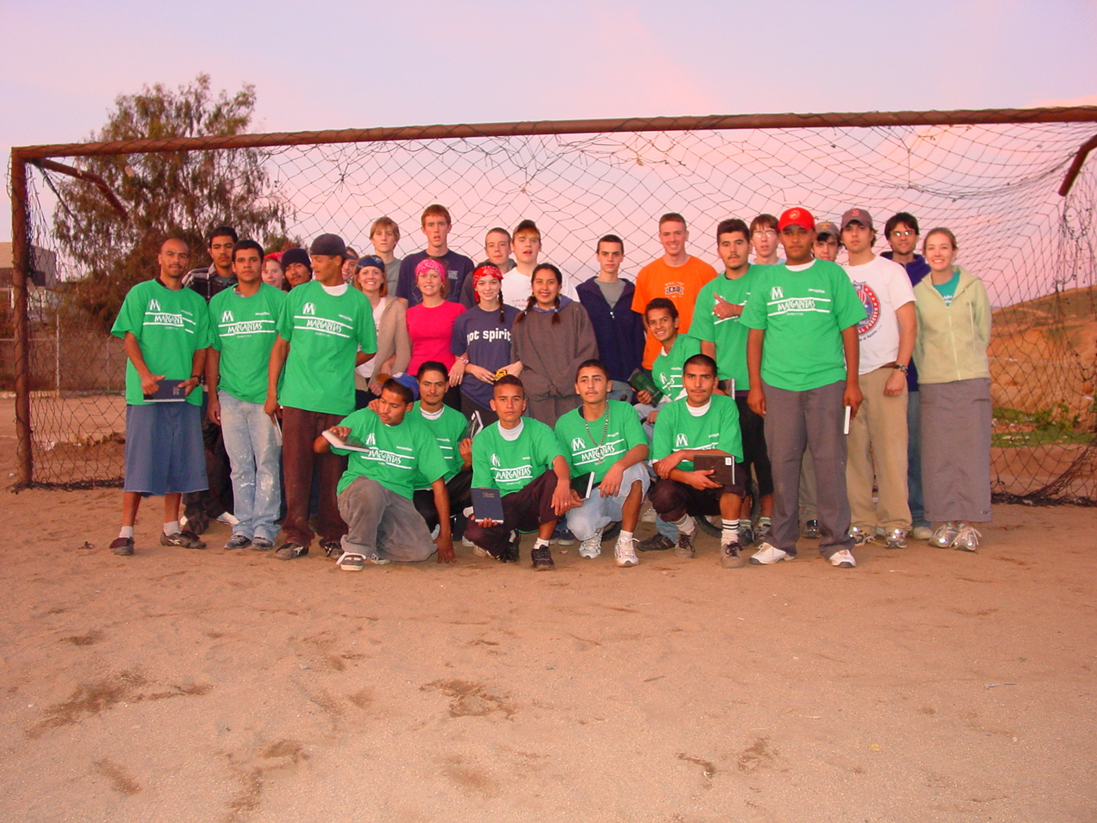 SLAM Mission participants and the Margaritas team, 2003.