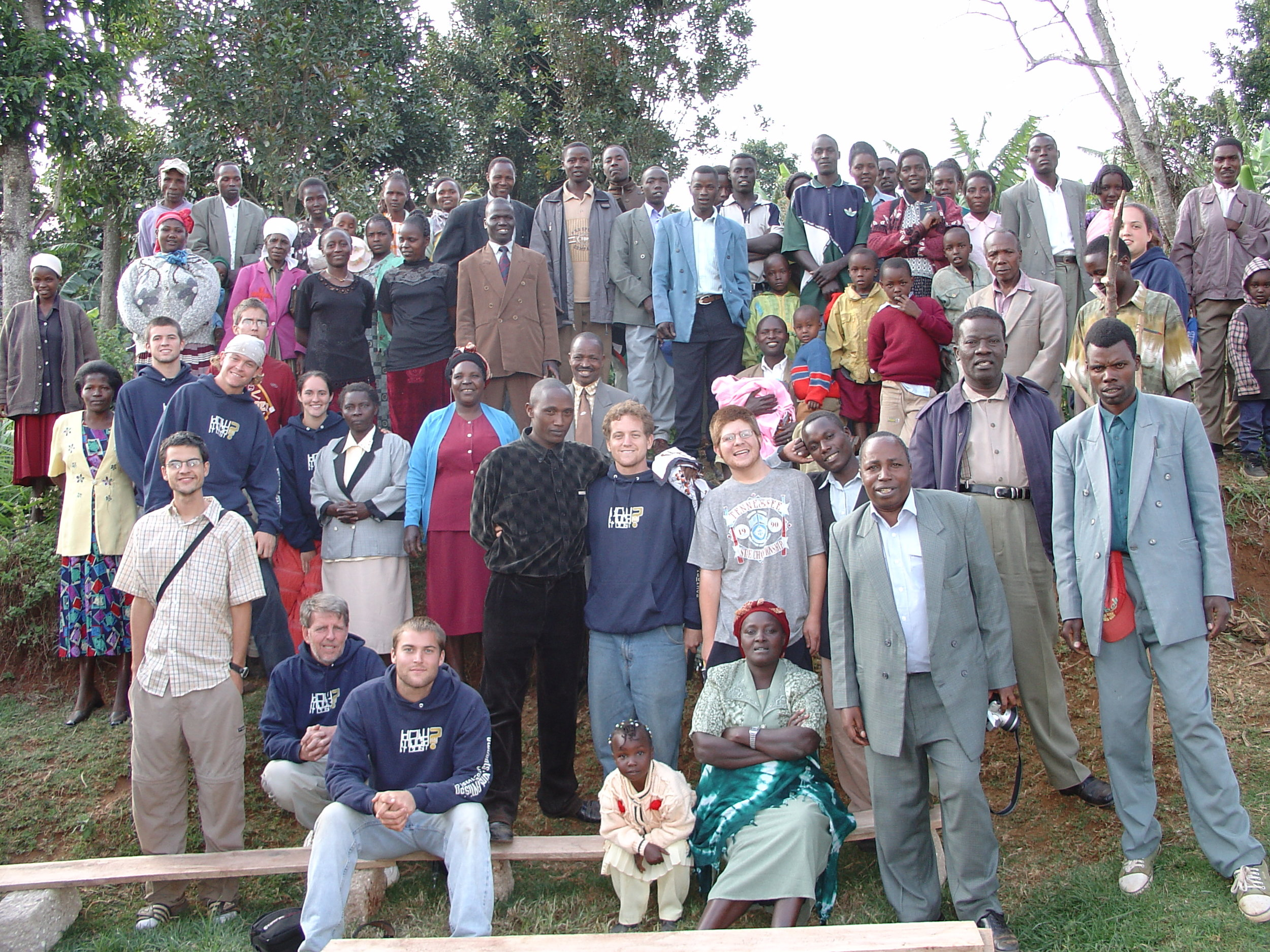 Elias Rukenya is in the front row on the right with the suit, shown here with several of the pastors he teaches and some of our 2003 summer internship team.