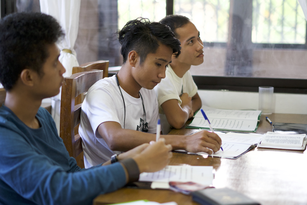 All of the G.O.D. Int'l SEA interns participate in a bible certification program as part of their internship. This is the integral component to the development of these young students as they consider the foundation they are building on God's Word. MC, Jairus, and Pepito (pictured above) will complete their first year of the program this spring.