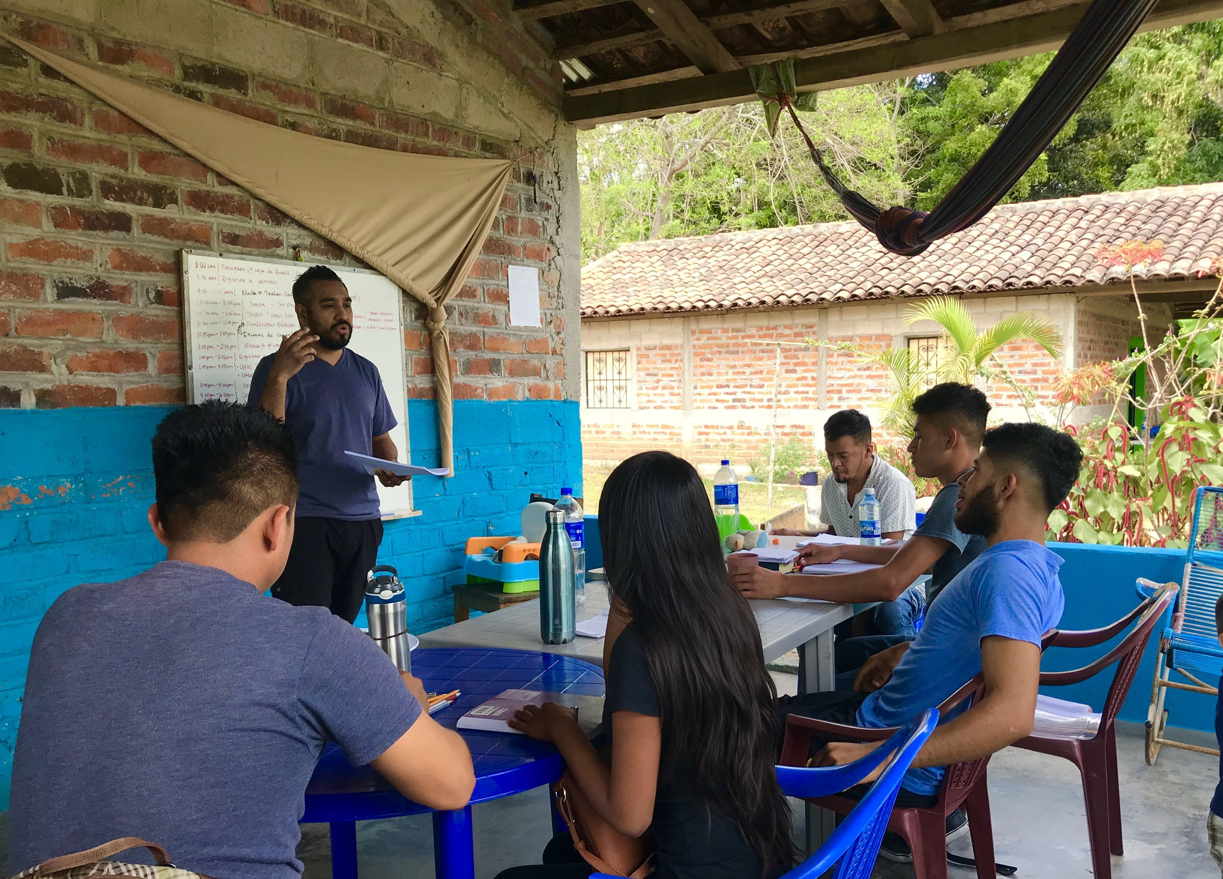 Our delegation team facilitated several student development seminars and assessments for our interns throughout the week including note taking, reading for critical comprehension and the inductive study method to name a few. Here, Rafael Reyes (pictured) leads an assessment on reading comprehension.