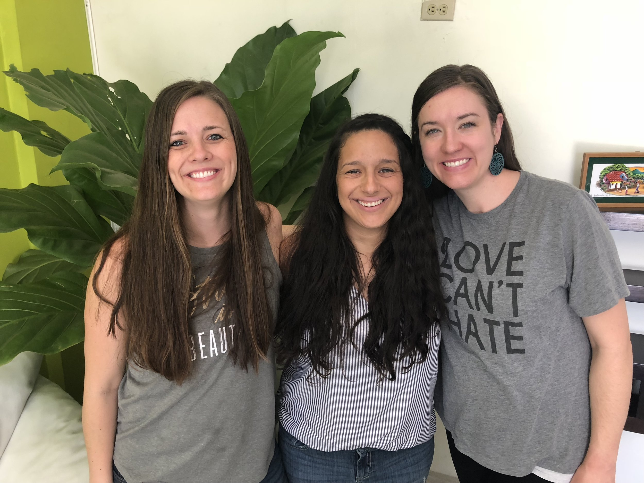 Team members Amanda Davis, Ninfa Parker, and Anna Reyes have been serving in Latin America together for over a decade. This kind of friendship makes for a healthy team dynamic and demonstrates to others that they know the Lord, because of their love for one another.