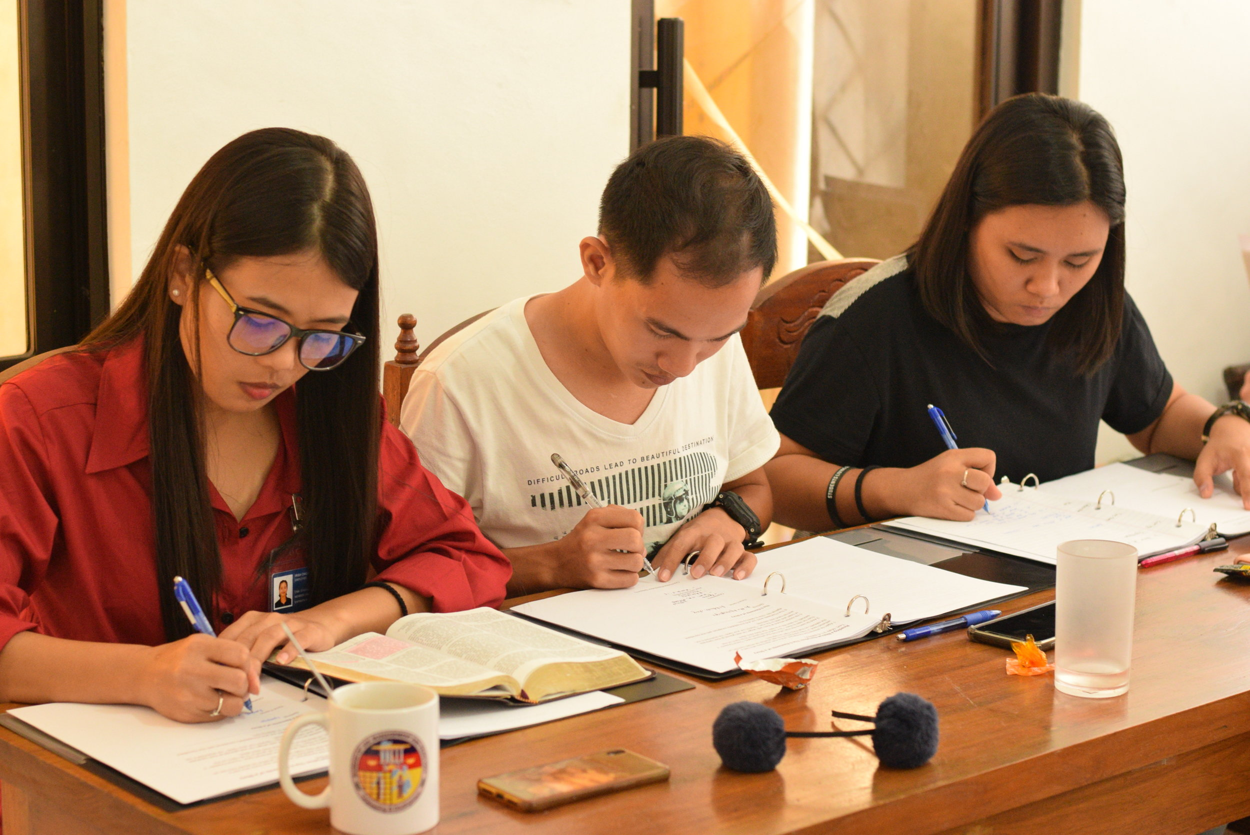 Biblical education is the primary component to the SEA Internship as participants meet weekly for study of scripture, homework, and feedback from course facilitators.