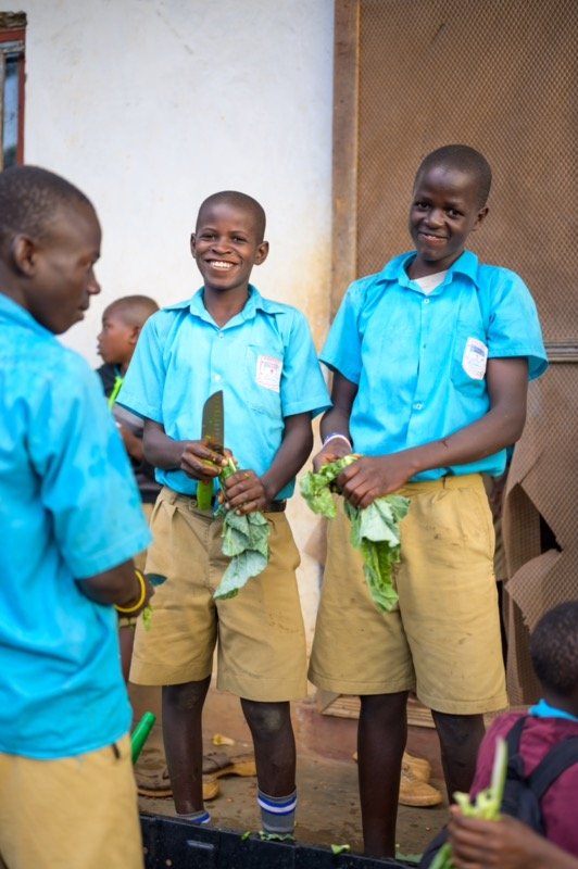 One major change we implemented at St. John's was incorporating students into the agricultural process. Students are both learning about and practicing food production techniques that are necessary for their school and society.