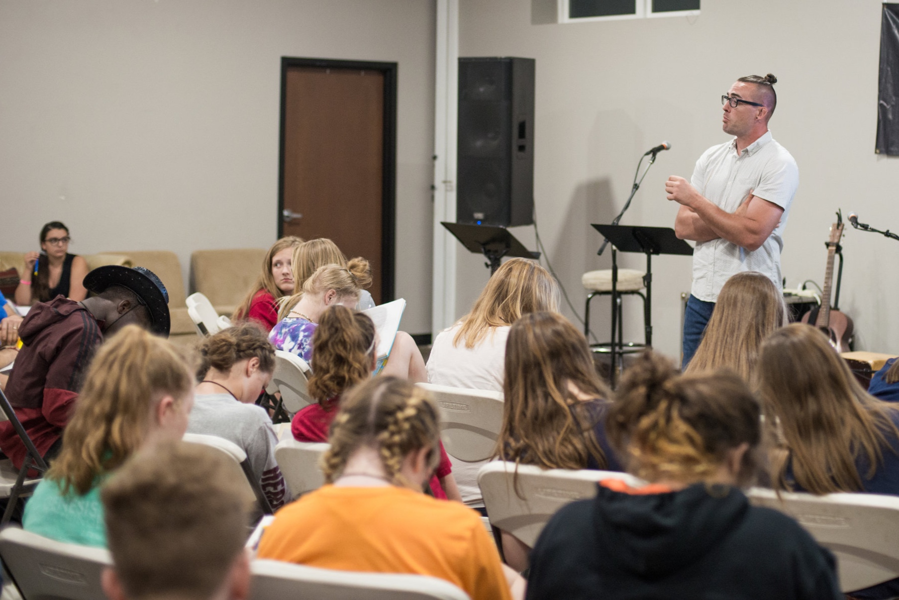 "Grant Dailey teaches the students from John 5:17, 19, helping to recognize that the only way to participate in ""Da Mission"" of God is to do like Jesus and become obedient to God's word."