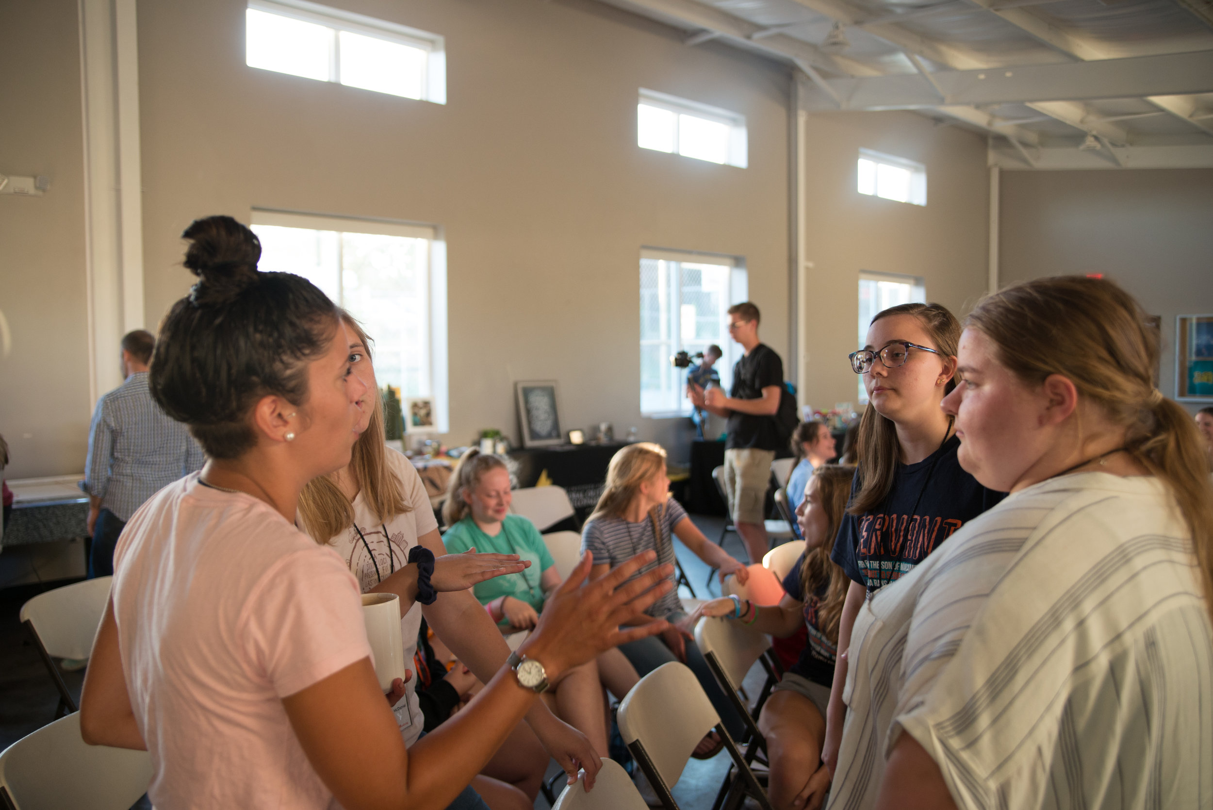 Small group discussions is an important aspect of Bible study. During SLAM weeks students learn how to take the word they receive and articulate it in their own words, learning how to apply it to their lives.
