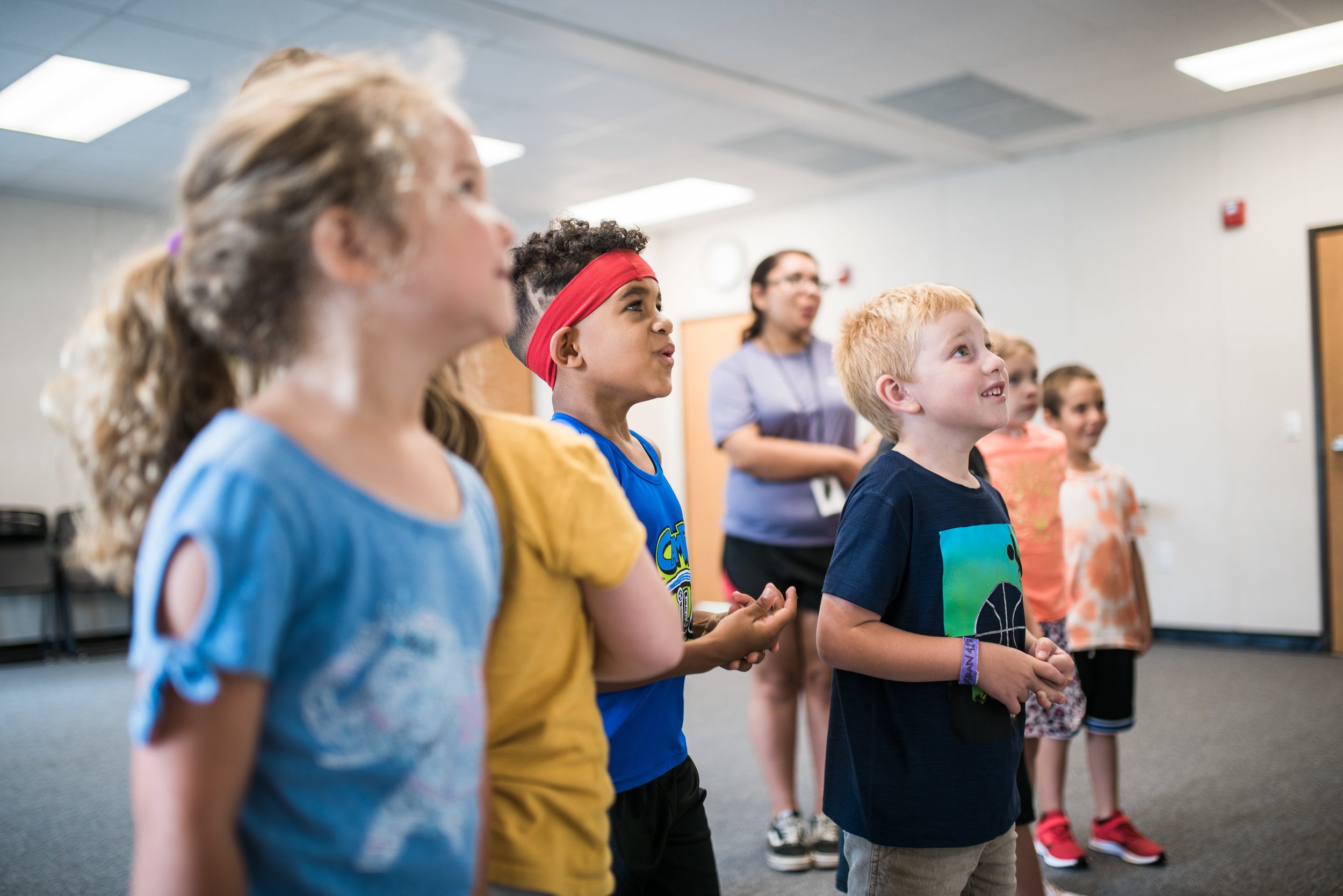 Campers had fun trying to figure out their vocal range by singing pitches up a musical scale in the Funk Choir session. Trying new things can be uncomfortable at times, but all campers supported and encouraged each other through the entire learning process.