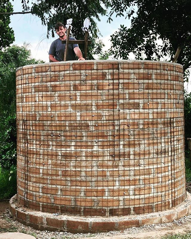 Matt, a student from the Institute for Global Outreach Developments International, enjoying the opportunity to learn from our Ugandan cooperative Francis on how to build a water cistern.  This 7,000 liter tank will be utilized to store rainwater.  When water is a challenging resources to collect, tanks like this lighten the burden for those who have to collect water for their daily needs. . #NuWaterWorks2019 #godeastafrica #godintl #watercisterns