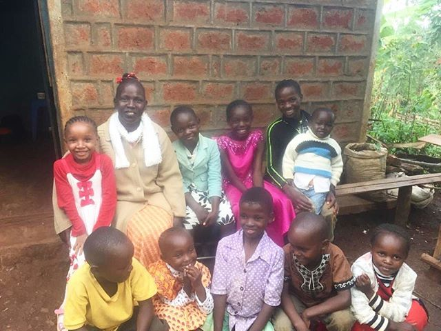 """One motto we cherish at G.O.D. is """"what we do here is what we do there,"""" meaning that our mission and activity remains the same regardless of the region where it is be carried out. These photos, both taken this week, remind us of this very thing!  Photo 1: children in our Sunday Bible program in Kenya learn about the value of generosity. As a result, they share bananas and fruit with a neighboring woman with a severe leg injury. This is no small gift as their families are praying daily for more rain for their crops!  Picture 2: Students from the Academy for G.O.D. likewise visit and elderly neighbor, bringing her eggs from the chickens they've raised as a class project.  #godintl #5regions1team #eastafrica #godeastafrica #loveyourneighbor"""