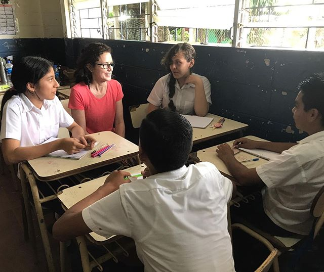 As our team was about to leave after a school visit, a group of students ran around the corner and asked for more classes. Following them back in, they made it clear they wanted more English practice so our team delivered!  #slammissions #englishlanguagelearning