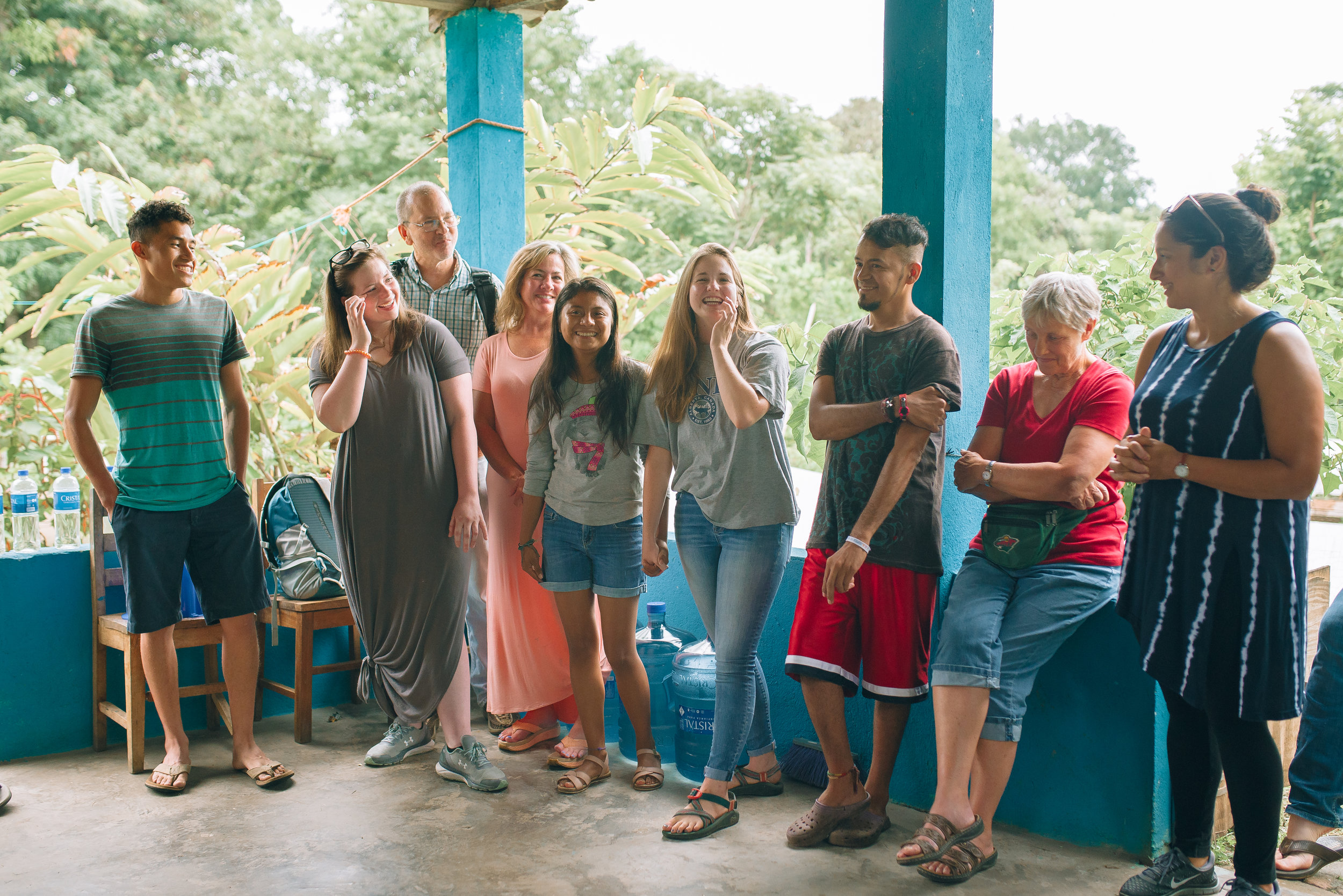 Institute student and team member, Lauren Garrison, was in El Salvador for a week before her family arrived. She was able to introduce her mother, father, and sister to her Salvadoran friends whom she had been serving with.