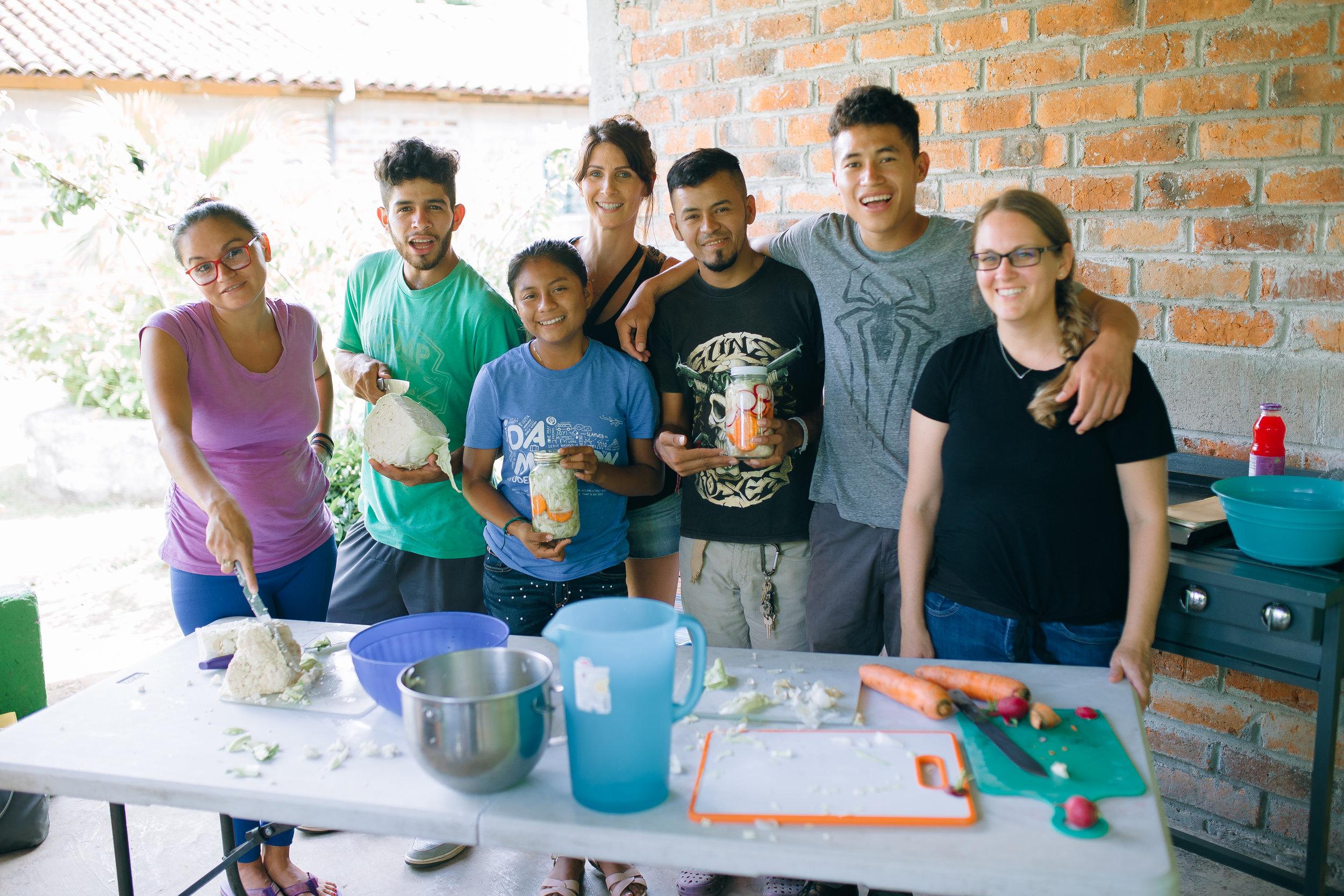 Workshop participants and facilitators: (L to R) Lorena, Amilcar, Doris, Vanessa, Miguel, Orlando, and Julie.