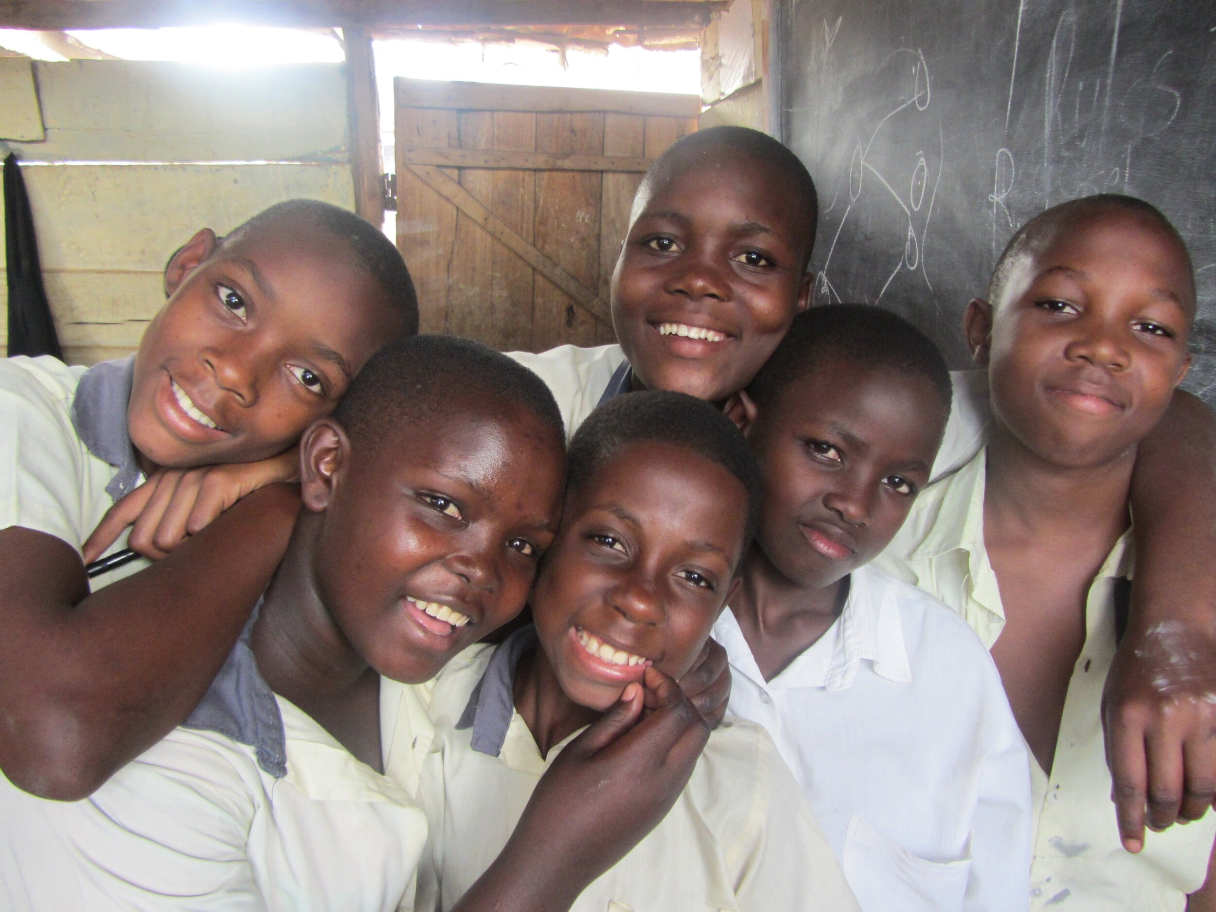Some of Ashley's students she taught during her Study Abroad in Uganda.