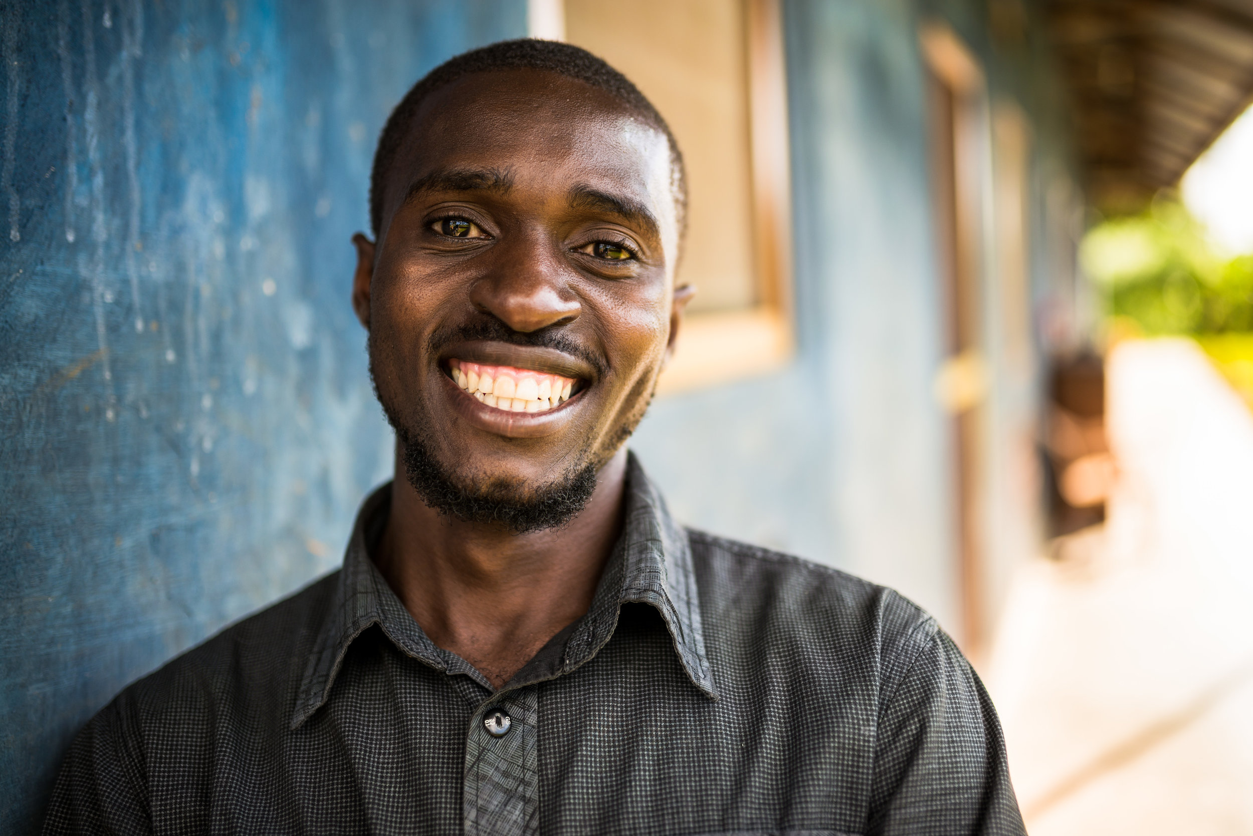 Moses Ssekabira, born and raised in Uganda, grew up walking to unclean water sources to collect water for his family. He thanks God for how his family's quality of life has improved.