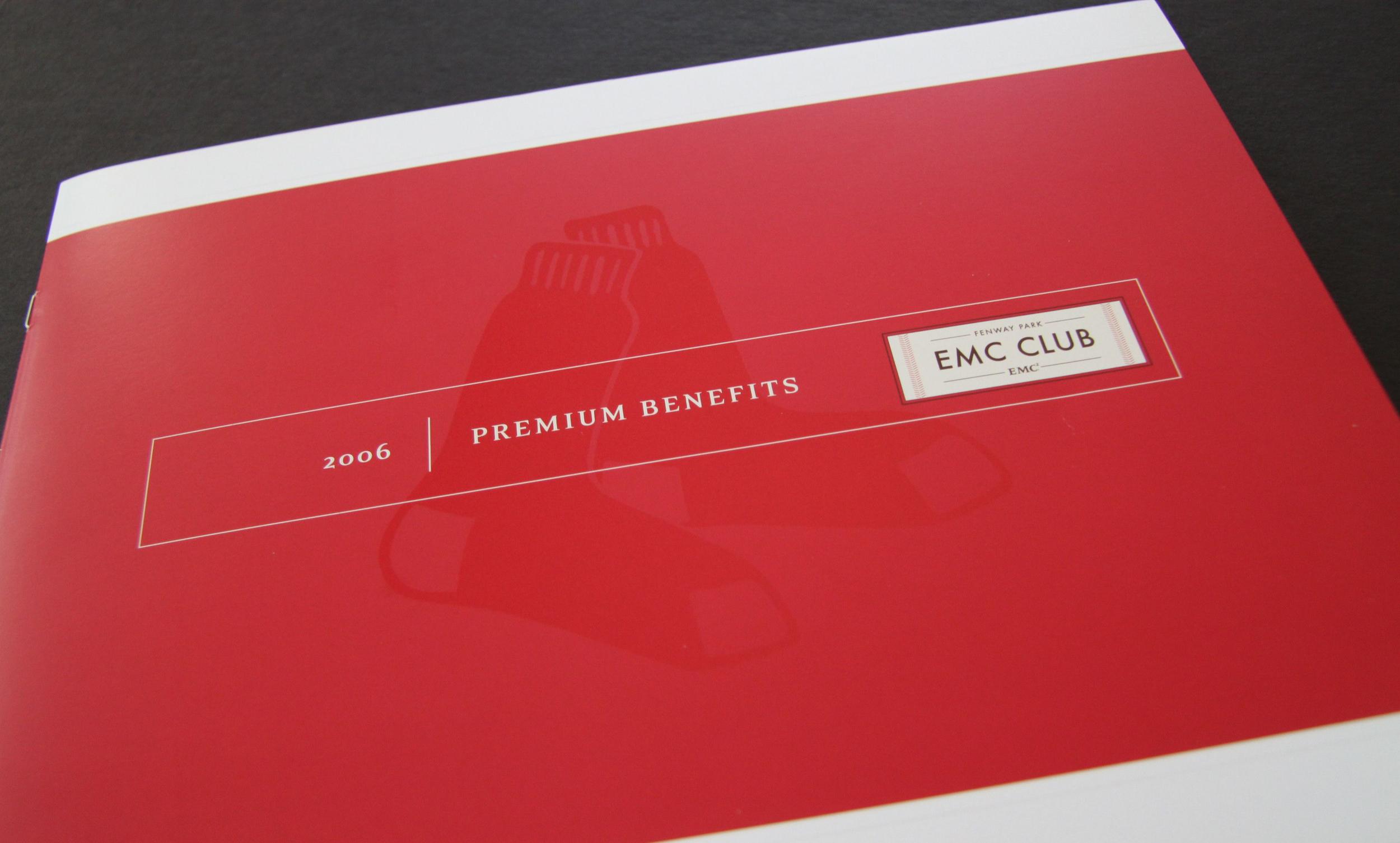 Boston Red Sox EMC Club Benefits Brochure