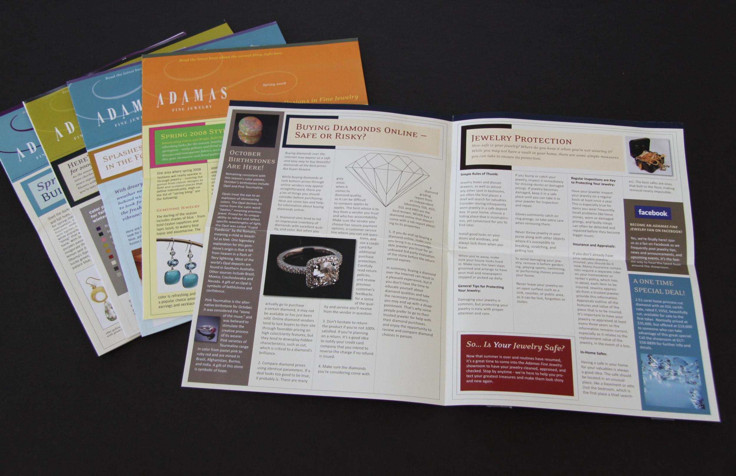 Adamas Fine Jewelry Newsletters