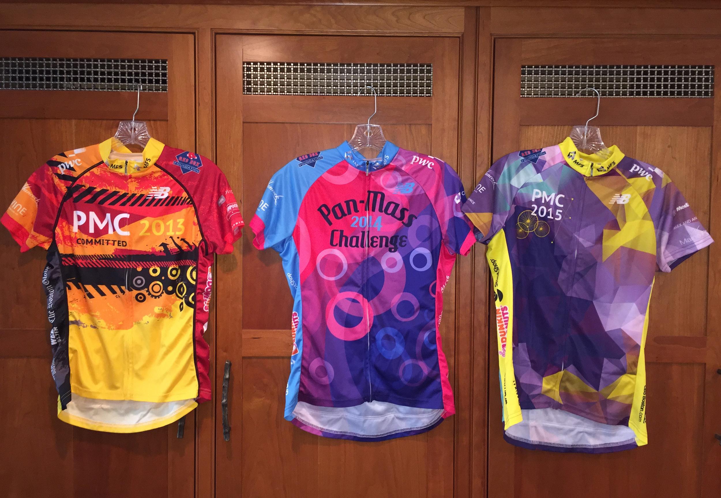 Pan-Mass Challenge Ride Shirt Fronts