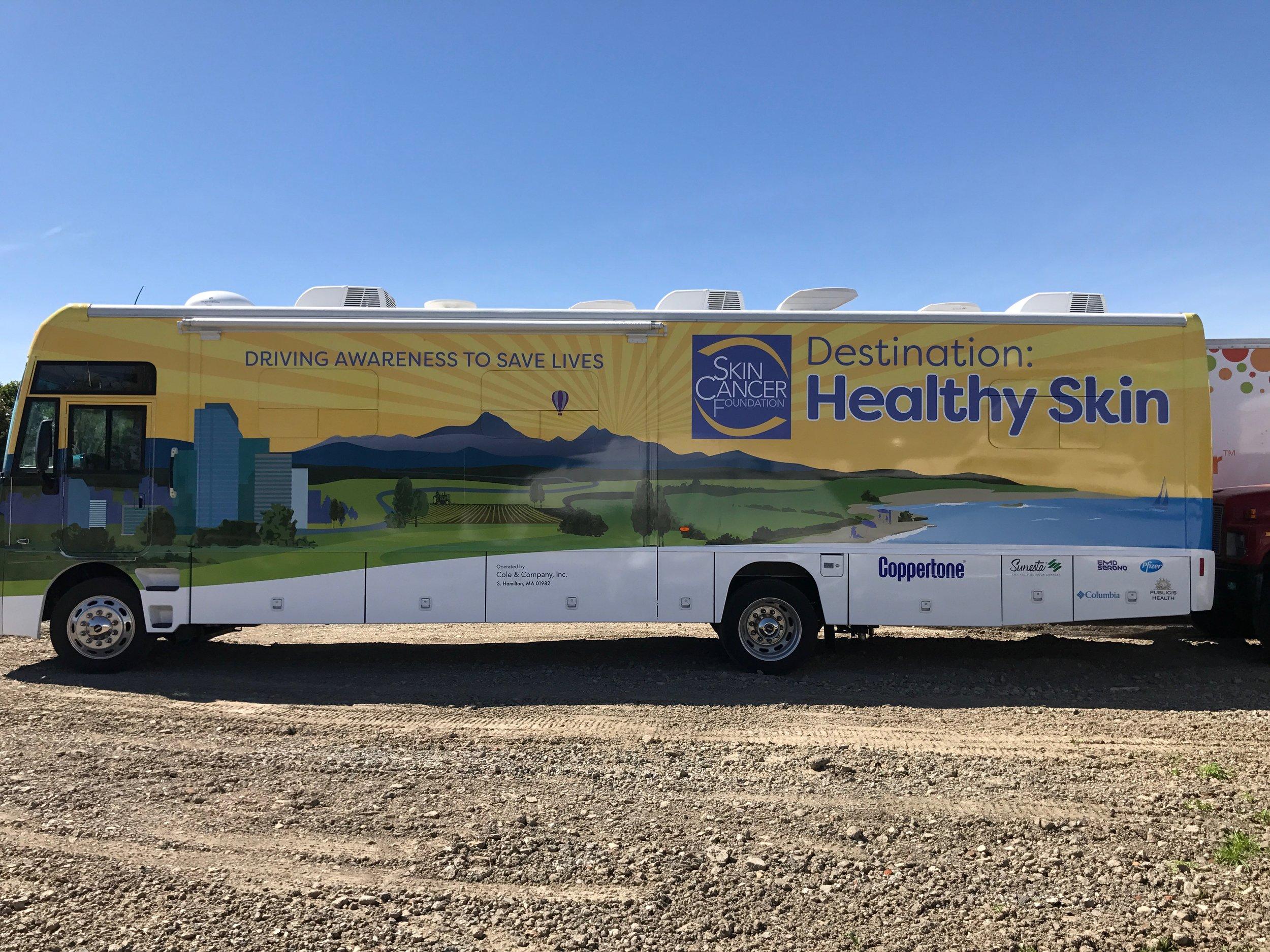 Skin Cancer Foundation Destination Healthy Skin Tour Bus