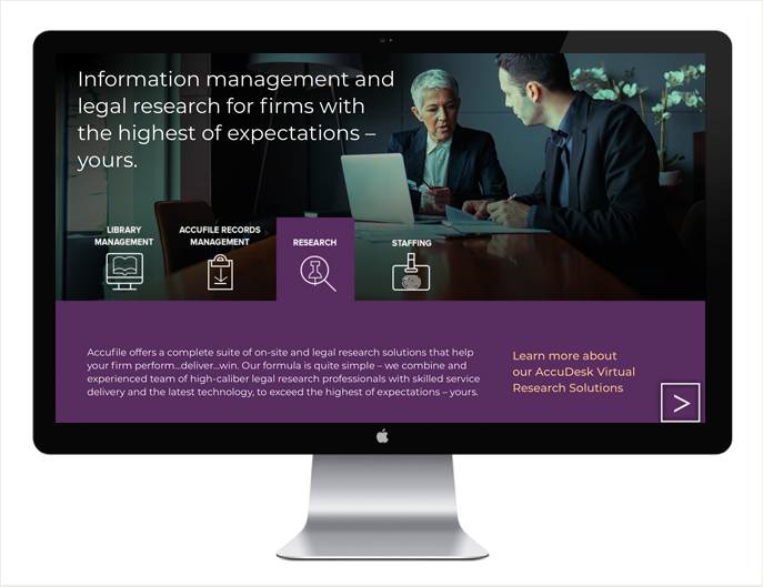 - Hired by JDW Marketing, we designed this site for Accufile.