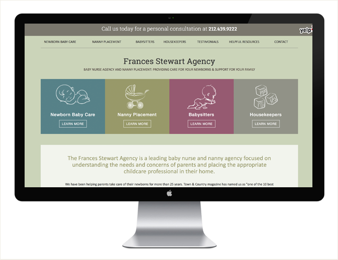 - Visit the Frances Stewart Agency website here: