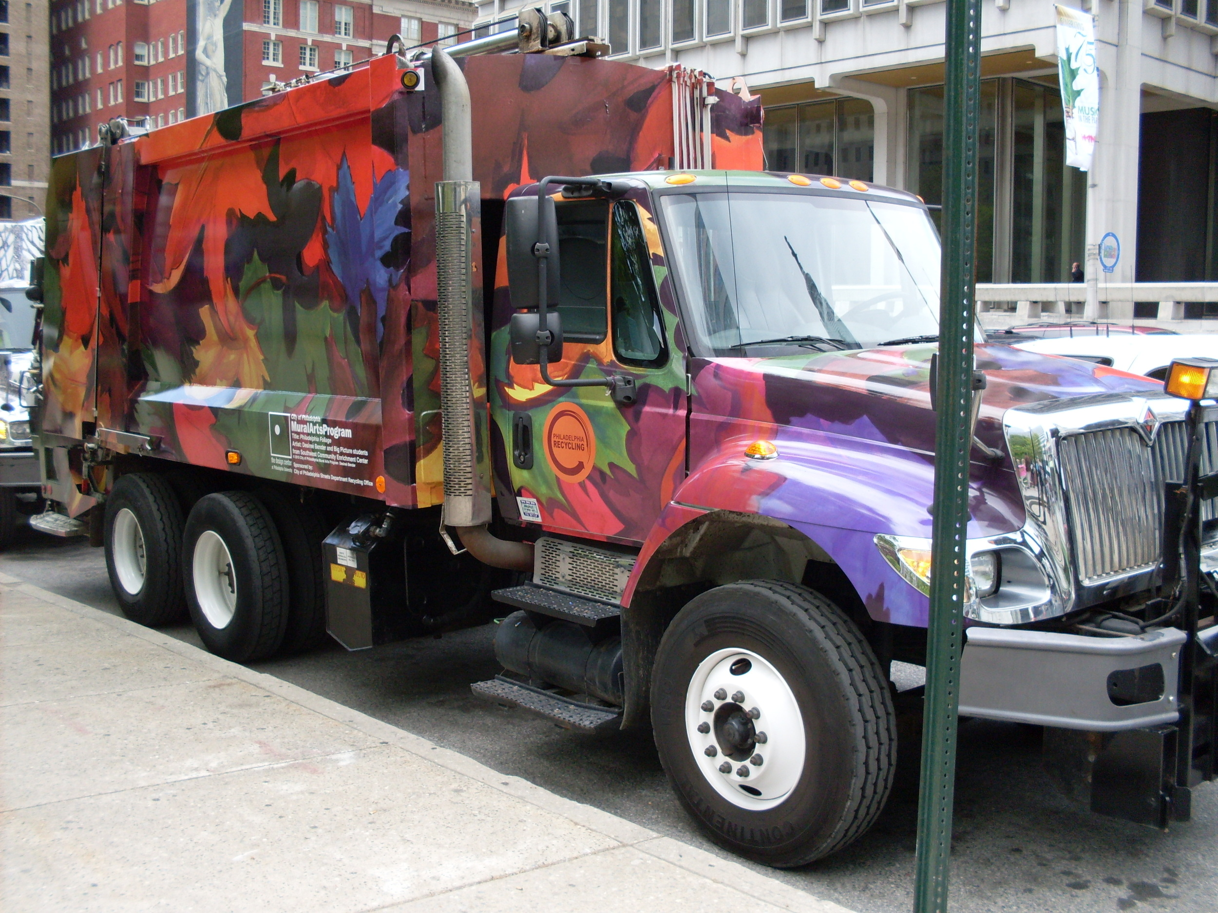 City of Philadelphia, Streets Department Collection Vehicle, Mural Arts Program