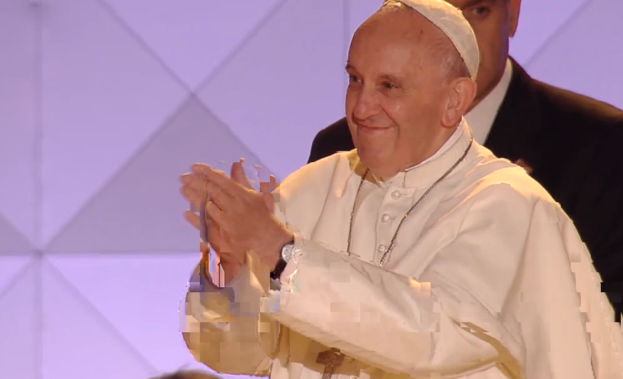 Pope Francis at the Festival of Families on Benjamin Franklin Parkway - 09/26/15