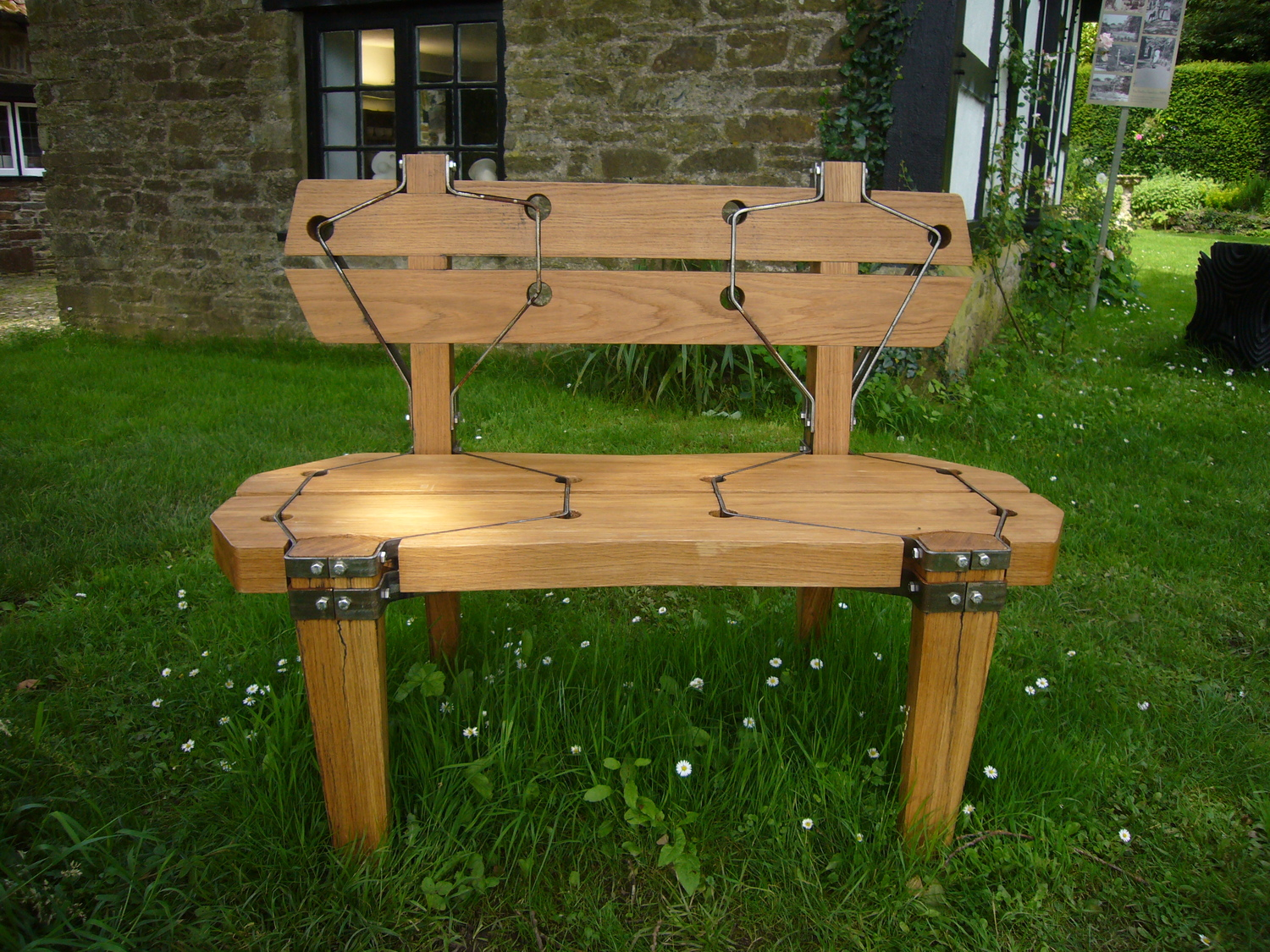 """Oak Suspension Bench"""