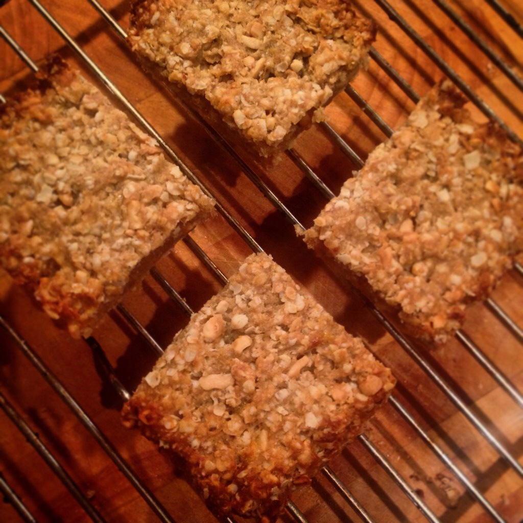 Banana and Peanut Butter Flapjacks.  Yum.  And just 24p for 4 generous squares.