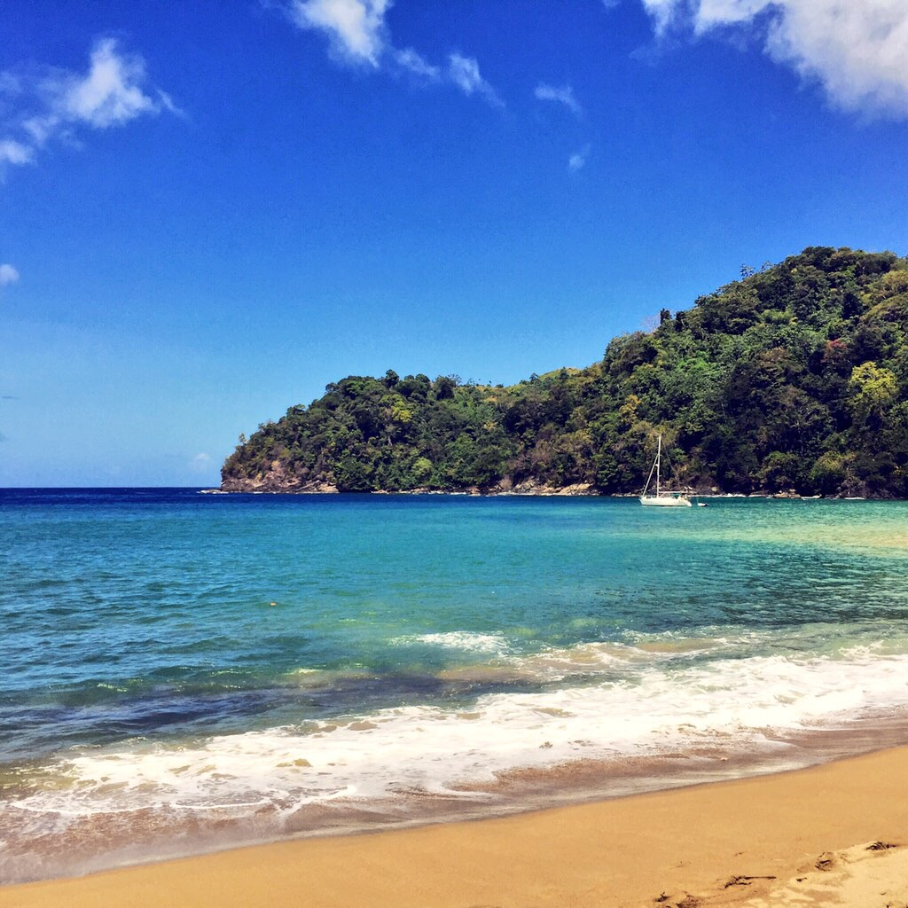 Could this get any more beautiful?  the final beach visit for the englishmen and the aptly named englishman's bay, tobago