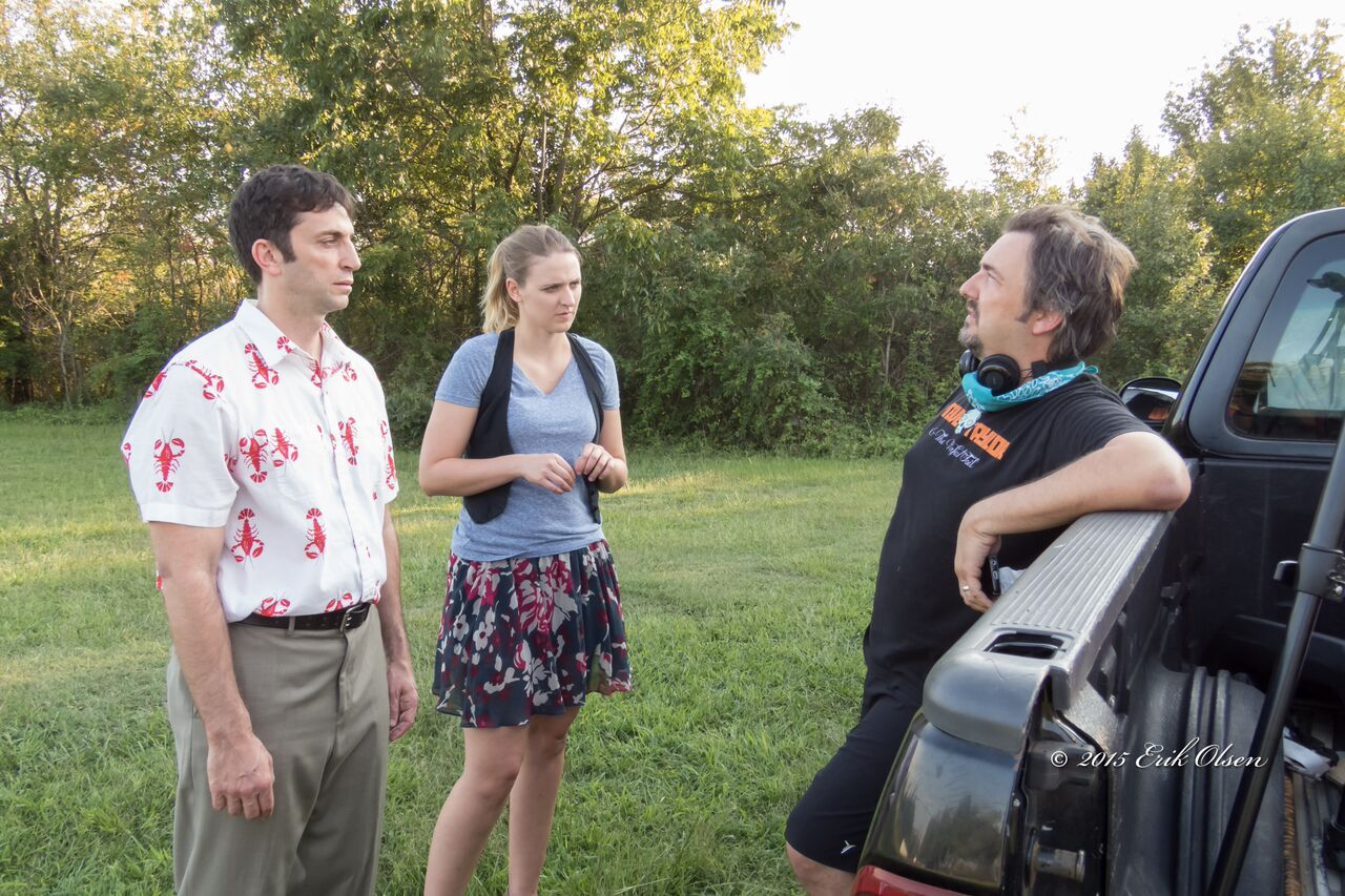 "Actors Bill Mazzella (""Tim"") and Lilly Nelson (""Kasey"") discuss the scene from UNBECOMING with writer-director Chris White."
