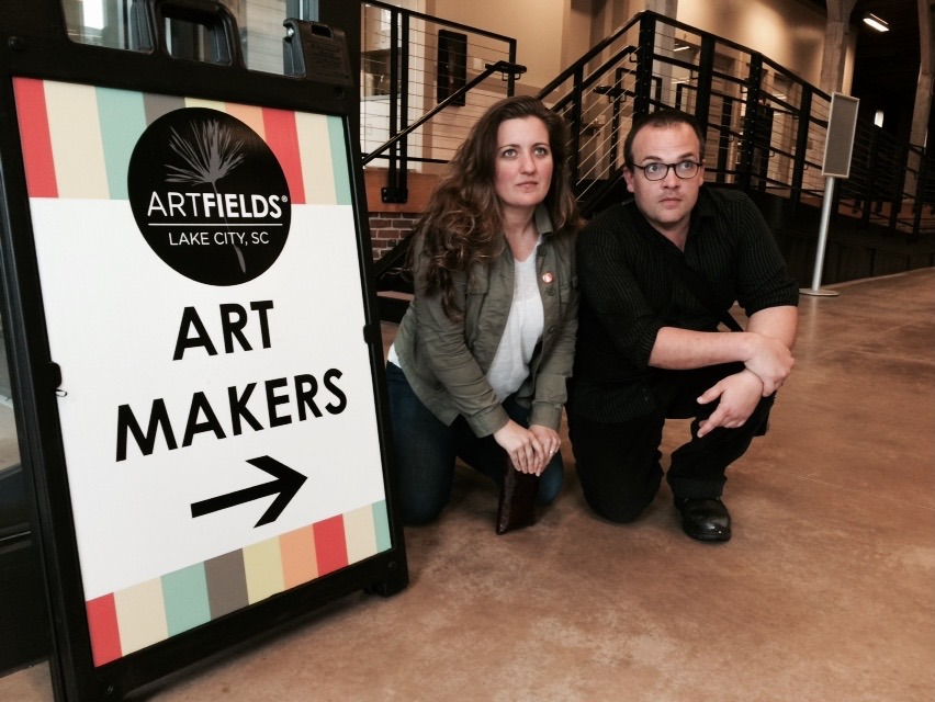Emily Reach White and Alex Smith attend an art festival screening of our film CINEMA PURGATORIO.