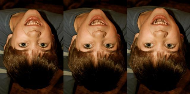 Three upside-down Joey Sosters.