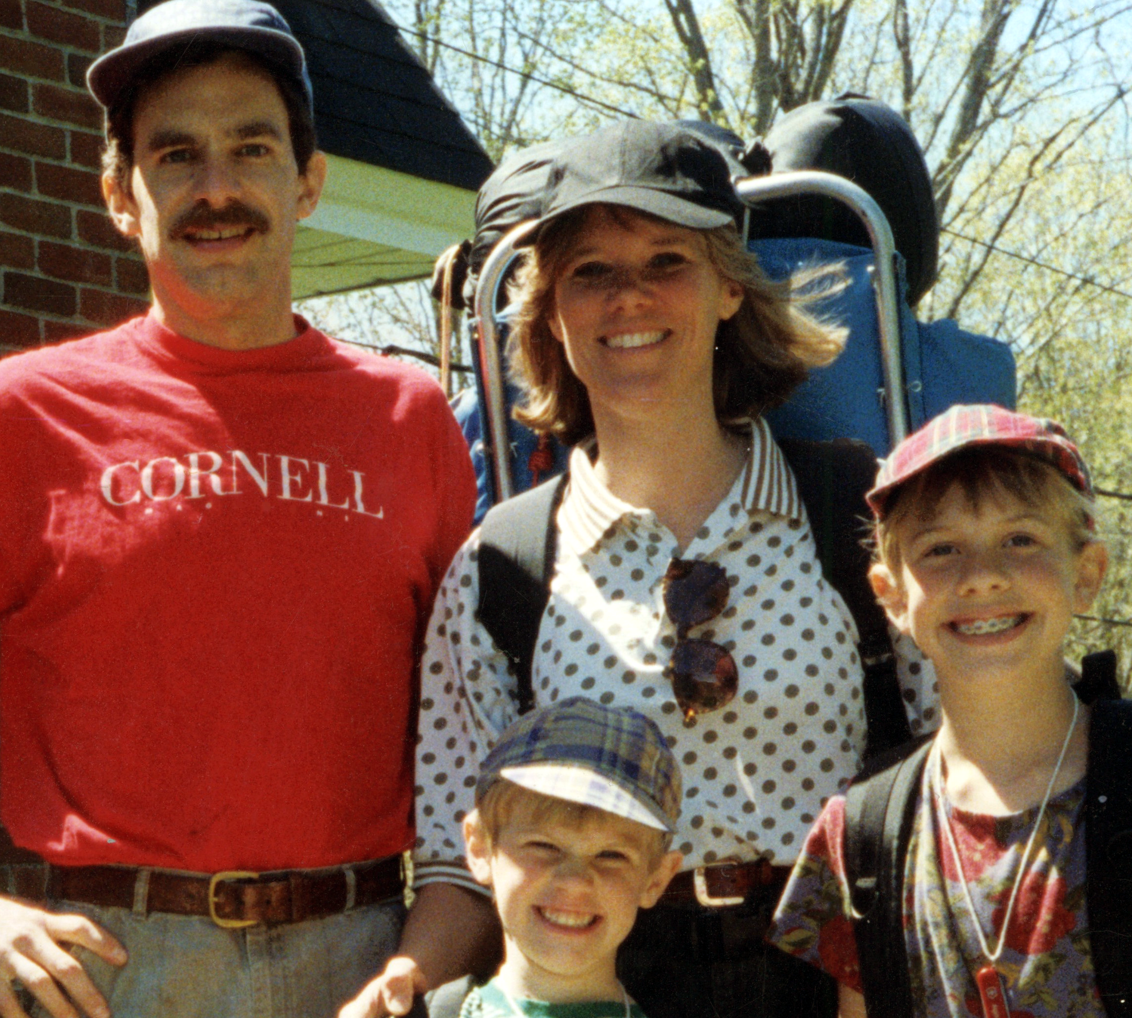Twenty years ago, the Appalachian Trail went through our hard. And a mustache went through my face.
