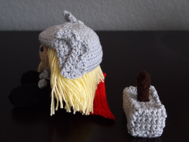 Thor with helmet - side view