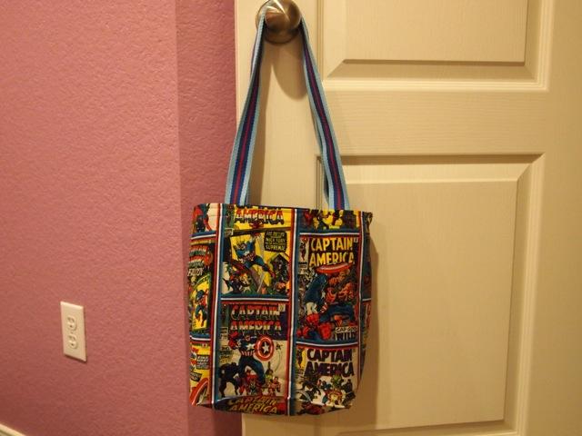 Captain America tote bag - full