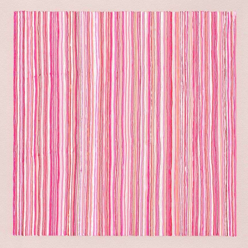 "title: (small) candy striper, 8.5""x8.5"", pen on paper. This is from a drawing series I'm working on..."