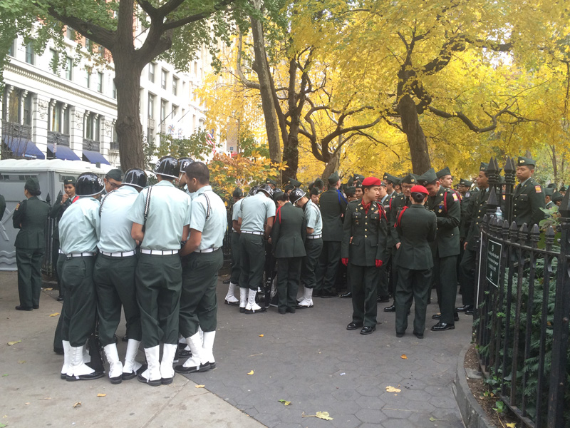 Cadets at the NYC Veterans Day Parade